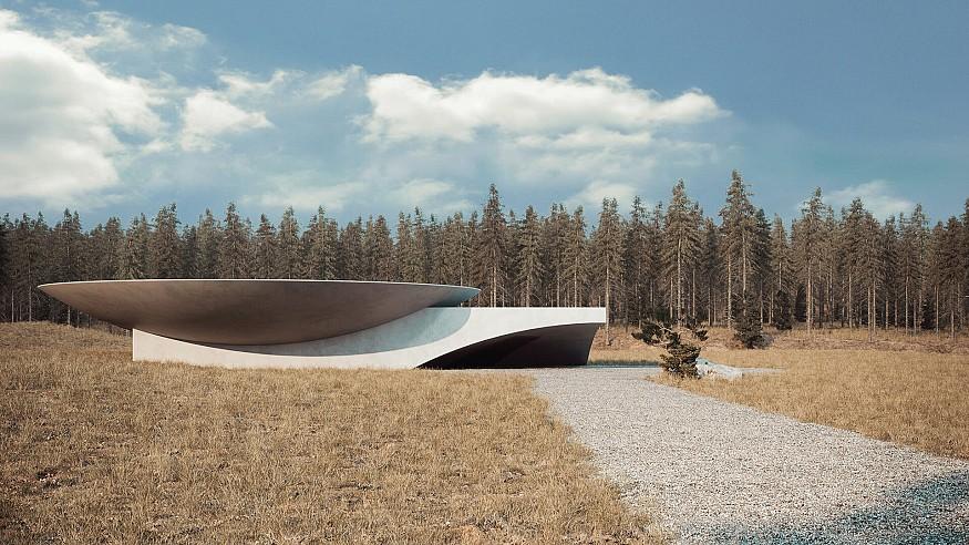 Sergey Makhno Architects imagine Underground House Plan B in Ukraine