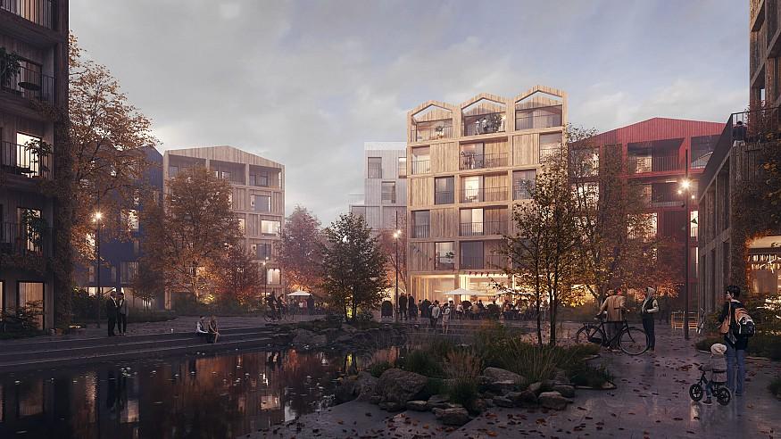 Henning Larsen envisions Fælledby as Copenhagen's first all-timber neighbourhood