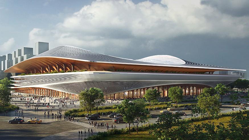 Zaha Hadid Architects design 60,000-seat Xi'an International Football stadium