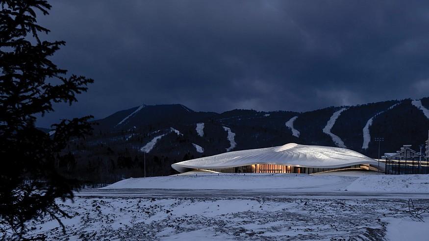 MAD reveals snow white, tent-like form of Yabuli Entrepreneurs' Congress Center