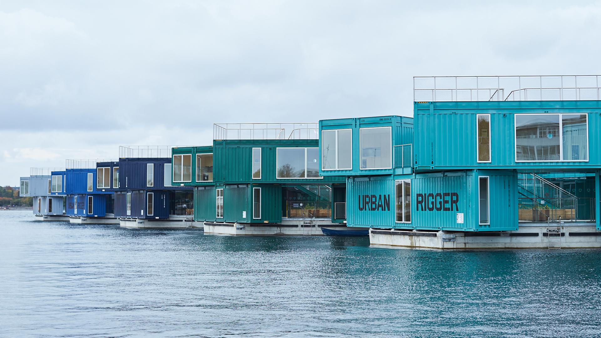 BIG builds affordable floating village 'Urban Rigger' in Copenhagen, Denmark