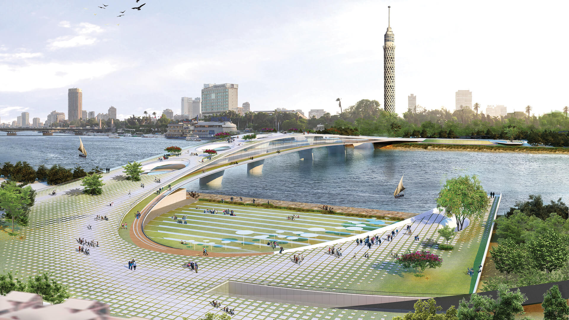 'Living Pedestrian Bridge Over the Nile' designed by a team of five architects from Cairo | Rifat Chadirji Prize 2020 declared by Tamayouz Excellence Award | STIRworld