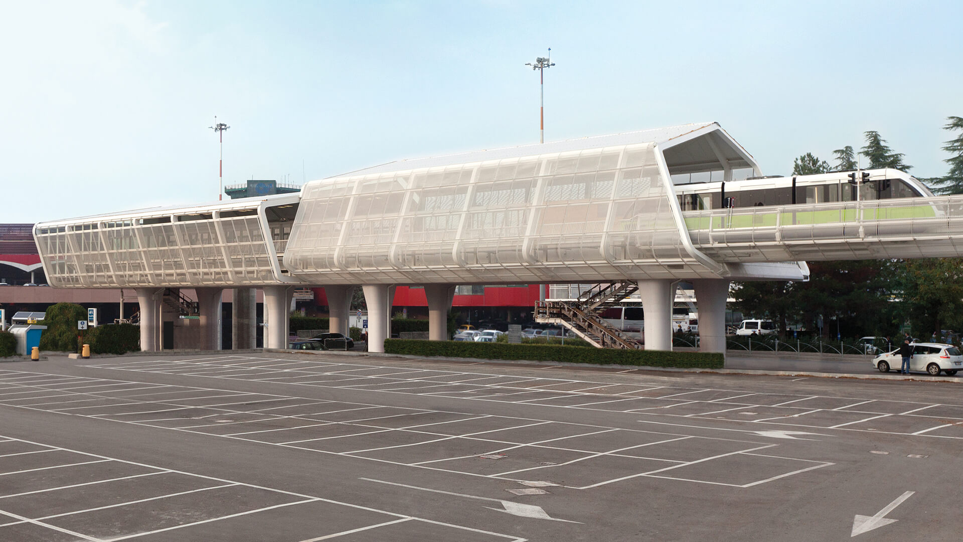 """""""People Mover' links Bologna Centrale railway station to the city's airport 