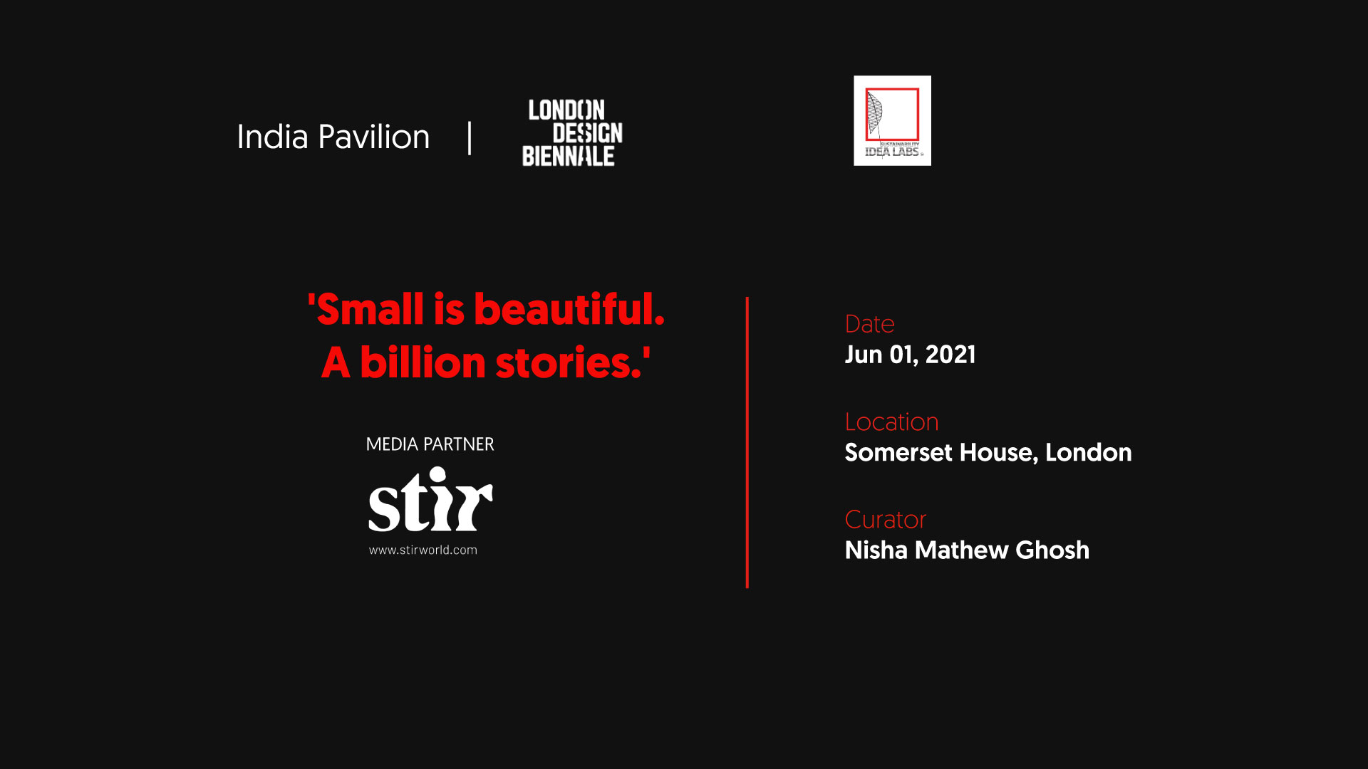 'Small is Beautiful': discover the India Pavilion at the London Design Biennale 2021