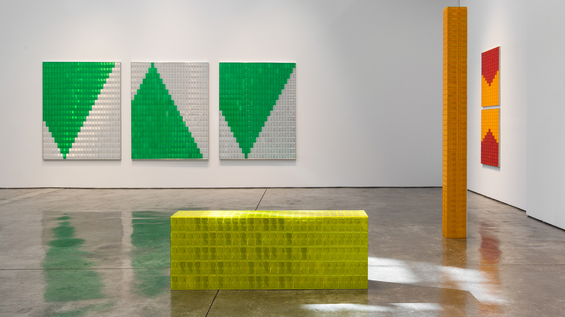 Rana Begum, Perception and Reflection, 2019, The Third Line, Installation view 1