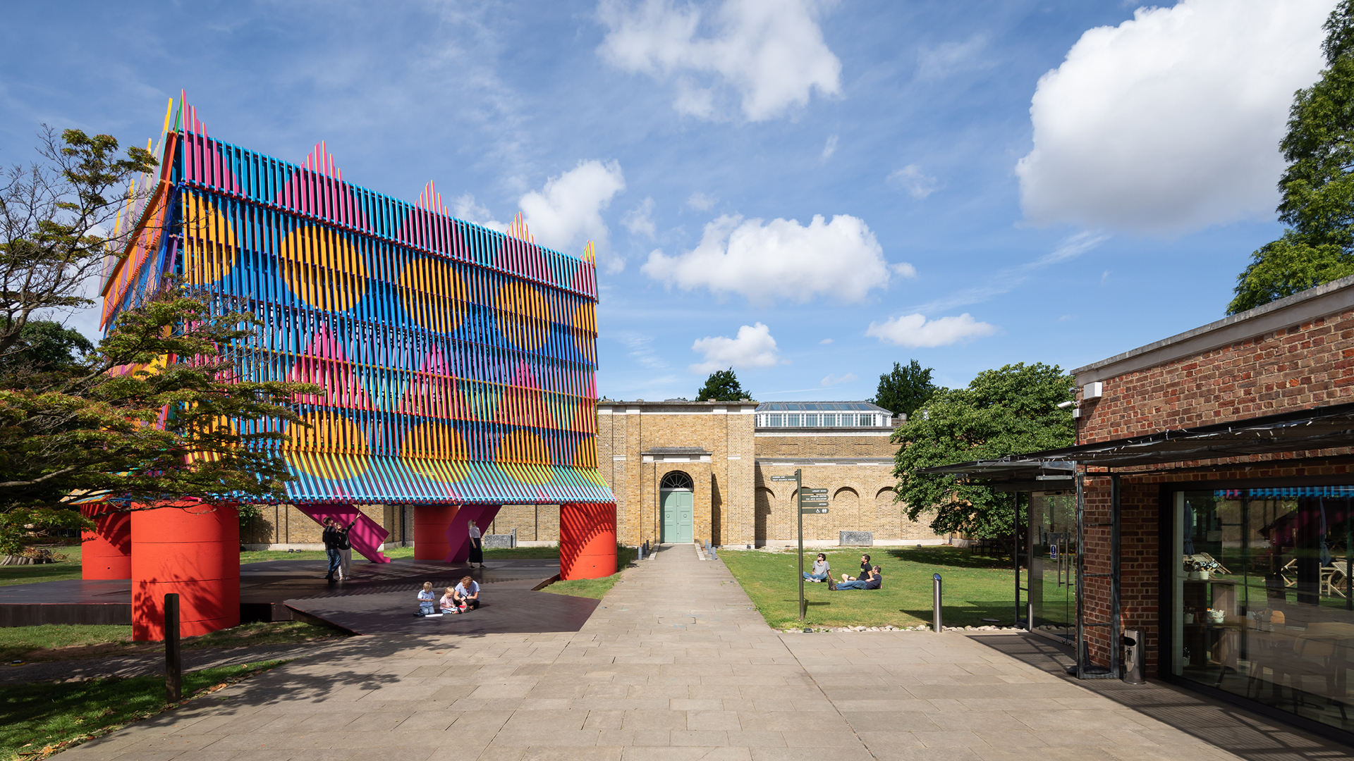 The Colour Palace, a temporary structure designed by Pricegore and Yinka Ilori outside the Dulwich Picture Gallery| The Colour Palace| Pricegore and Yinka Ilori| London Festival of Architecture 2019| STIR