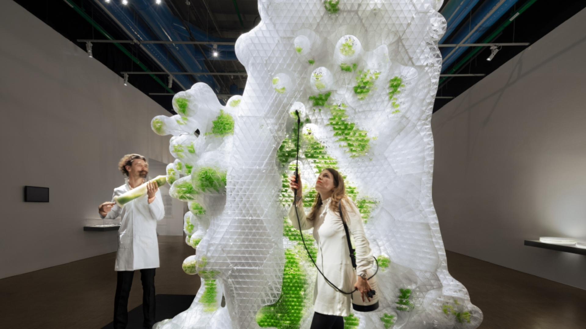 A 3D printed bio-structure conceptualised by ecoLogicStudio, previously seen at Centre Pompidou | Future and the Arts: AI, Robotics, Cities, Life - How Humanity Will Live Tomorrow | Mori Art Museum | STIRworld