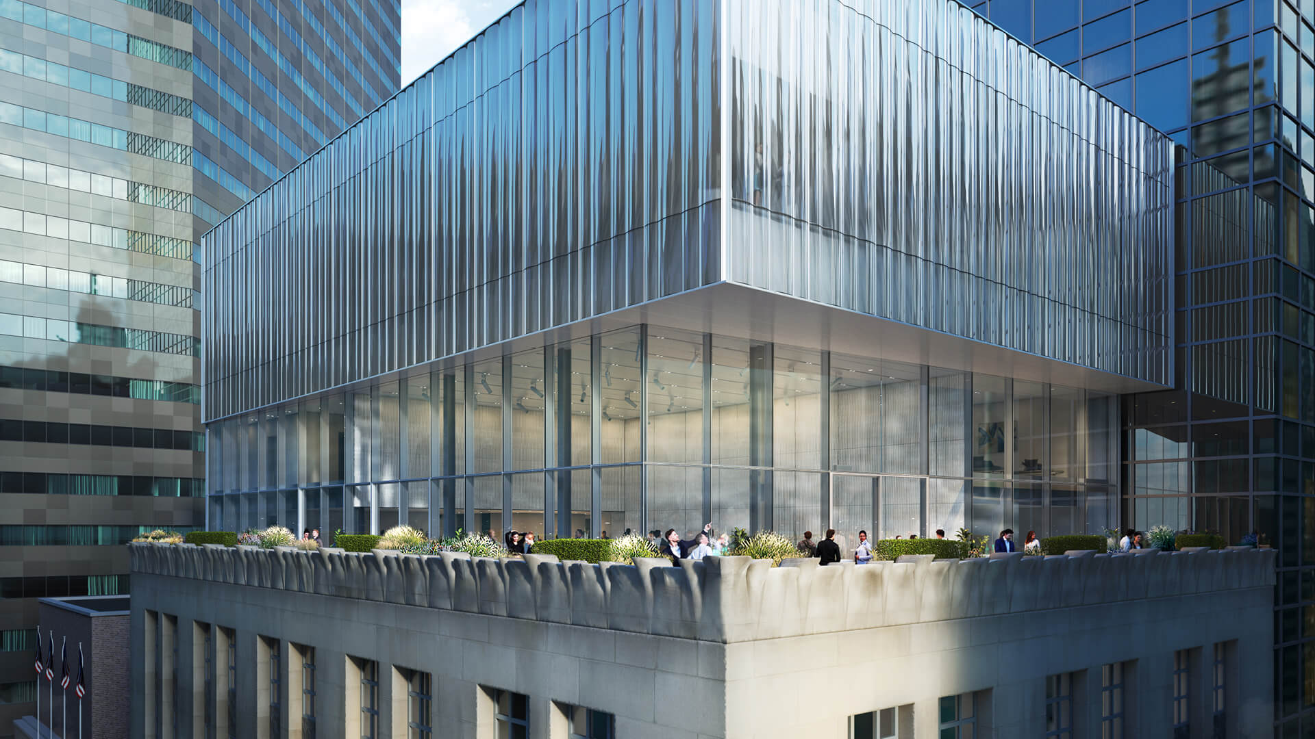 A contemporary addition by OMA sits on top of the originally limestone-faced Tiffany flagship store in New York | Tiffany & Co Flagship Store by OMA | STIRworld