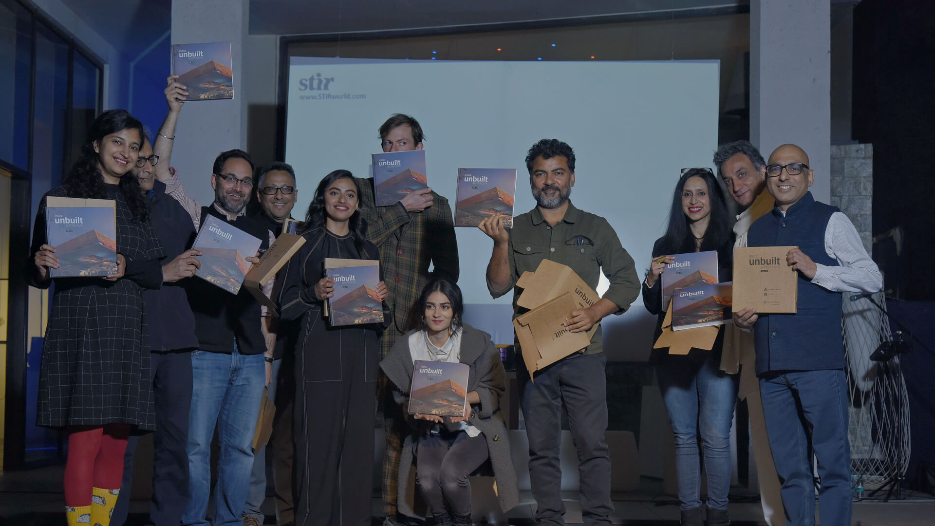 A glimpse from the book launch of 'india: unbuilt architecture' at the STIR Gallery, New Delhi | STIRworld