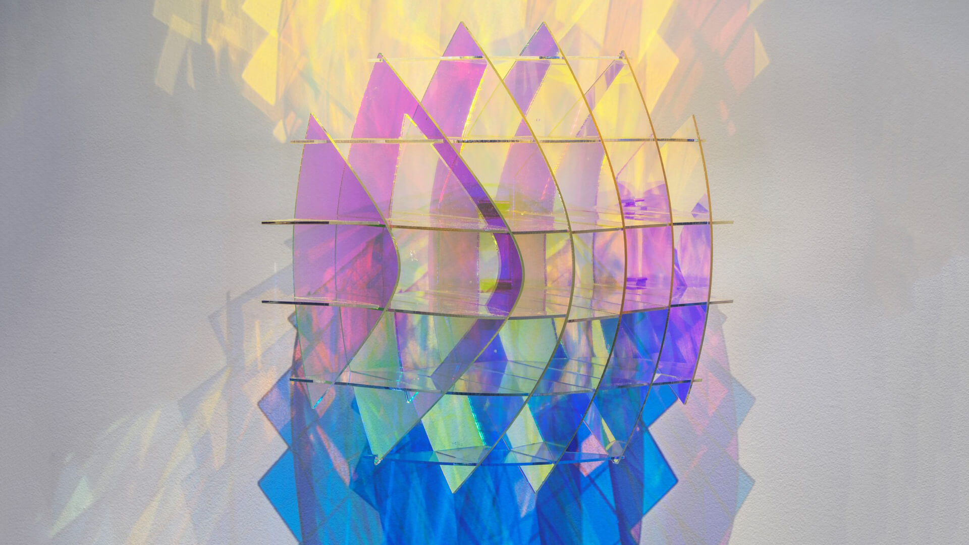 A sculptural work by Chamo from a series titled Subjective Structures plays with space and light | Sheer Appearances | Barak Chamo | STIRworld