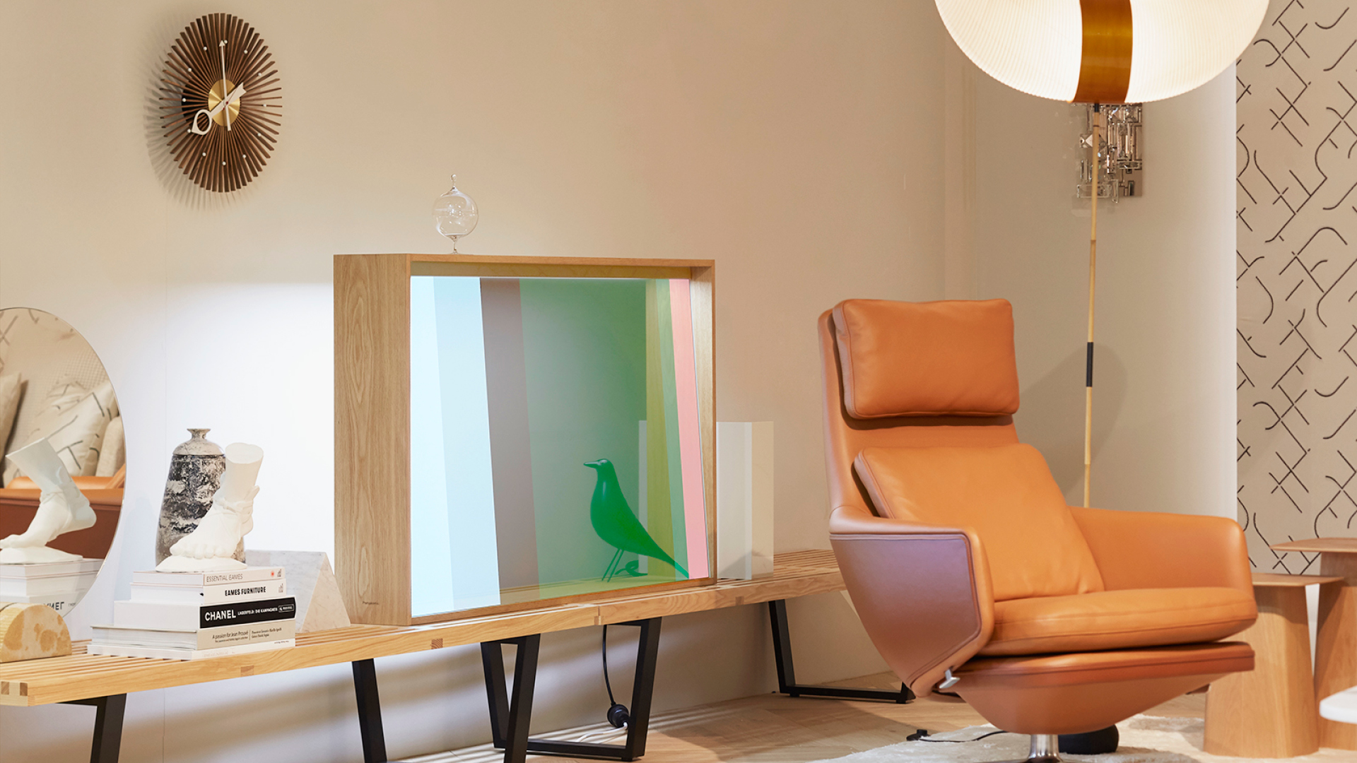 Panasonic and Vitra unveil transparent OLED screen at Milan Design Week