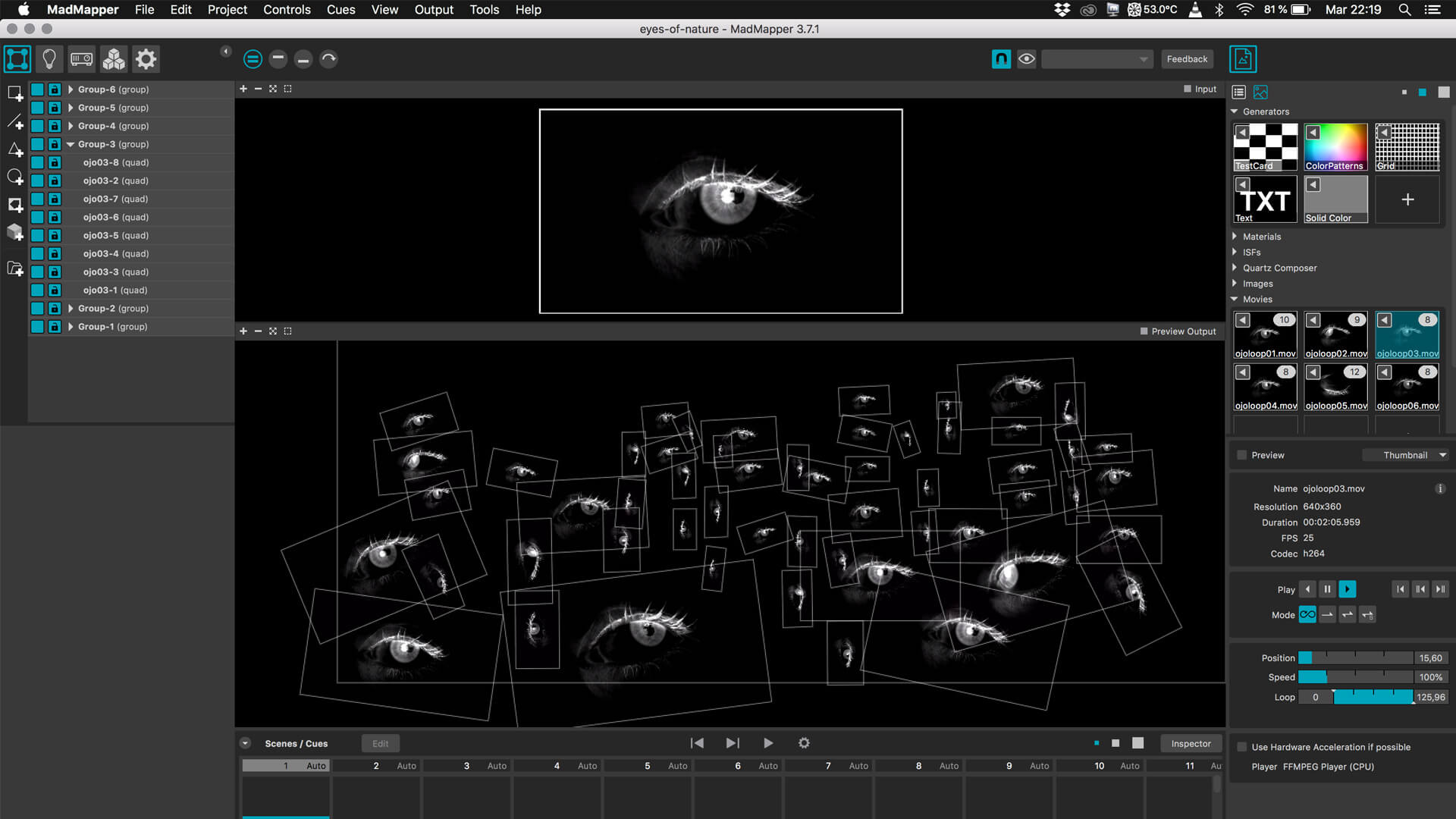 A work-in-progress image from Losco's process behind 'Eyes of Nature' | Day Zero Festival | Alfonso Losco | STIRworld