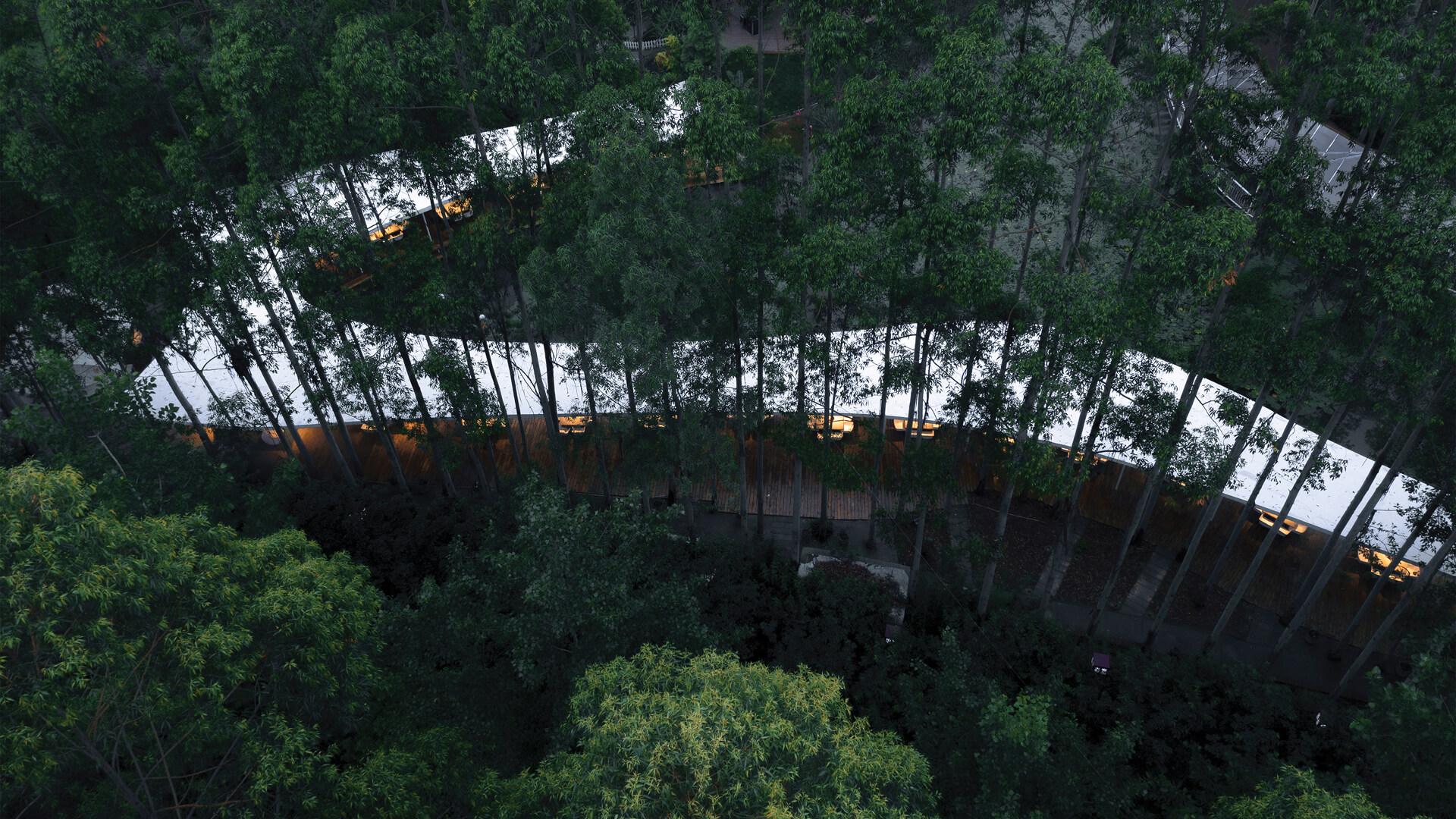 Aerial view of Garden Hotpot Restaurant designed by MUDA-Architects | Garden Hotpot Restaurant designed by MUDA-Architects | STIRworld