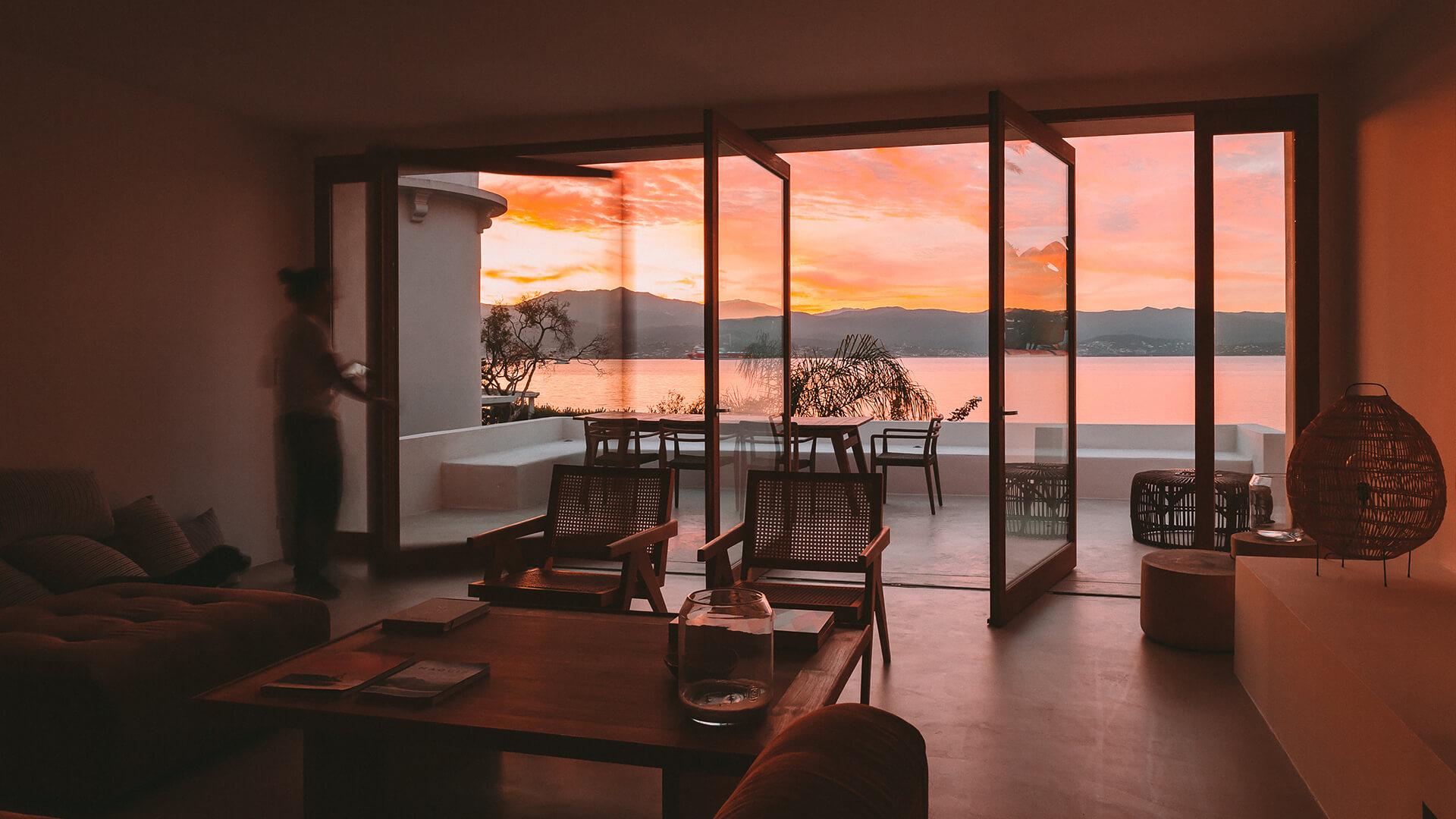 Casa Santa Teresa by Amelia Tavella is a gorgeous Corsican seaside holiday home