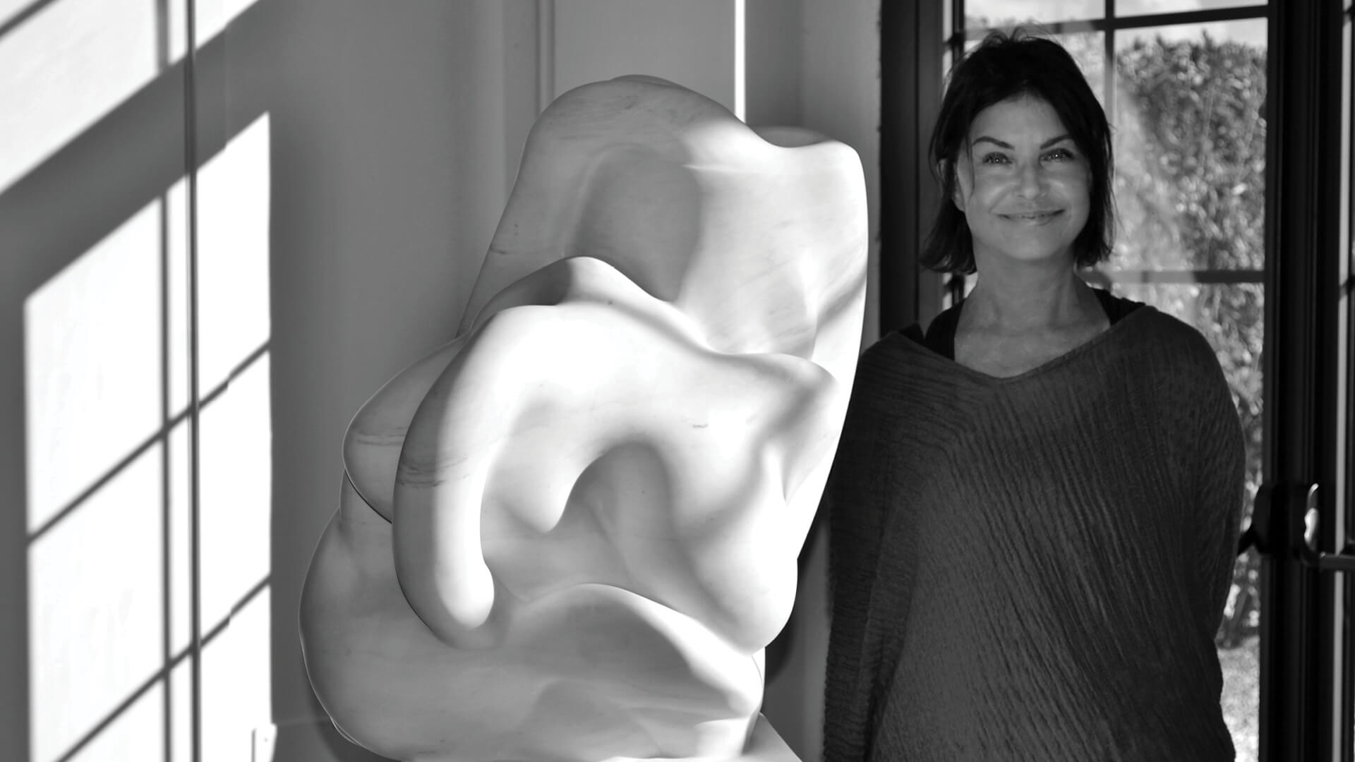 Biomorphic sculptures by Carolyn Frischling convey emotions and the intangible