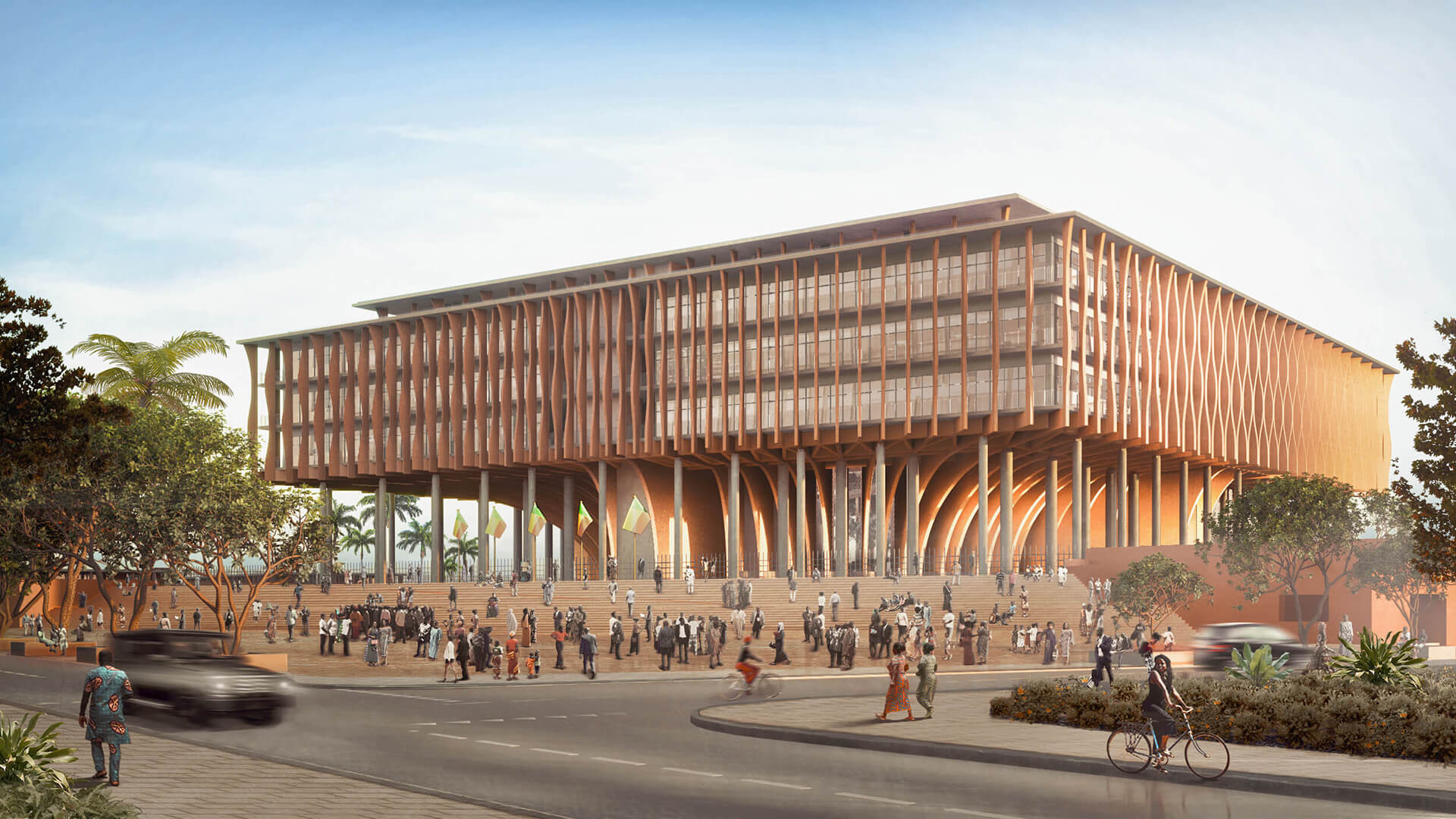 Benin's new National Assembly by Francis Kéré seeks inspiration from the African palaver tree | Benin National Assembly | Kéré Architecture | STIRworld