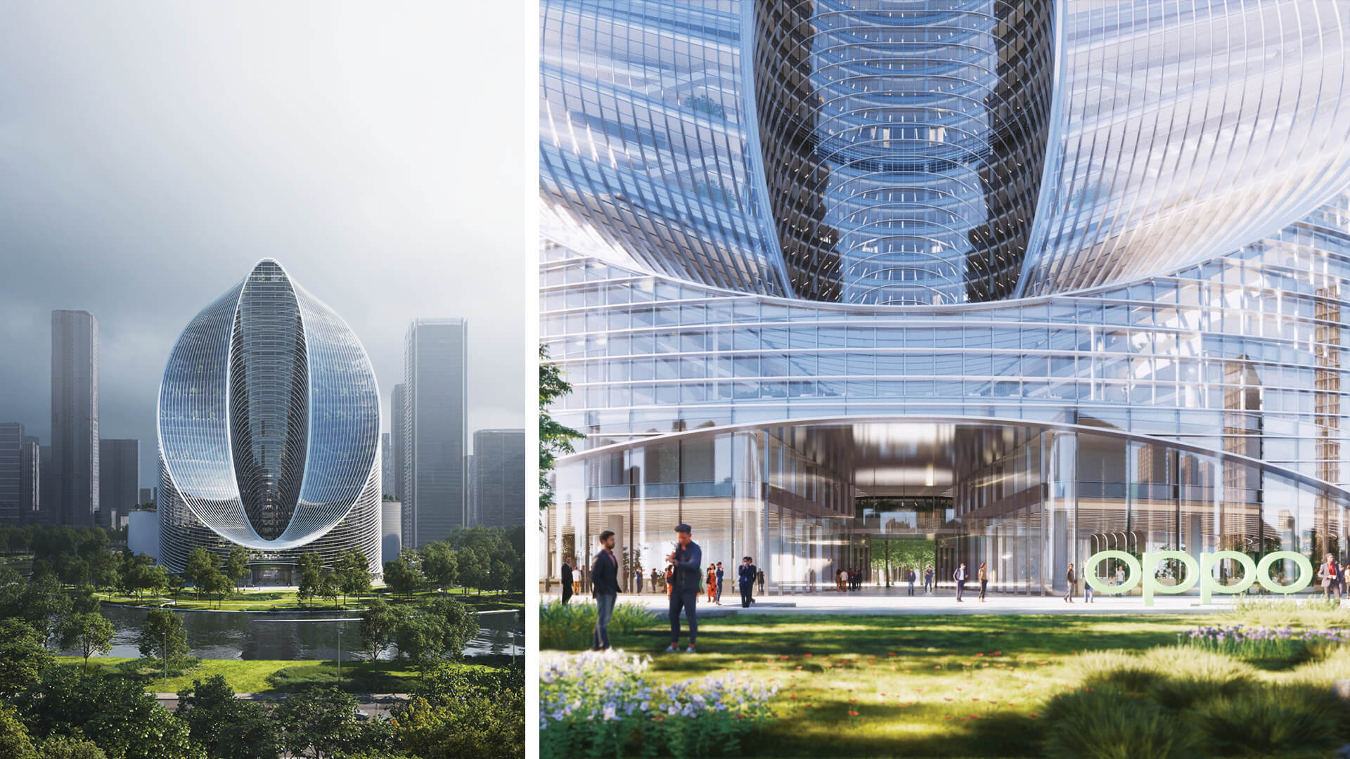 BIG has designed a fluid, O-shaped tower for Oppo's new R&D Headquarters in Hangzhou, China | Oppo R&D Headquarters by Bjarke Ingels Group | STIRworld