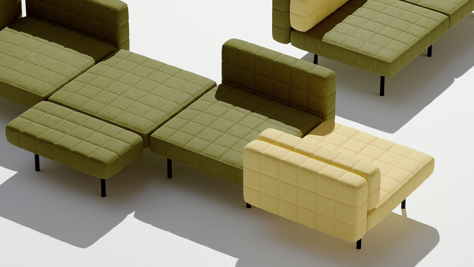 BIG ventures into furniture design with modular seating system, the Voxel Sofa | Voxel Sofa by BIG for Common Seating | STIRworld