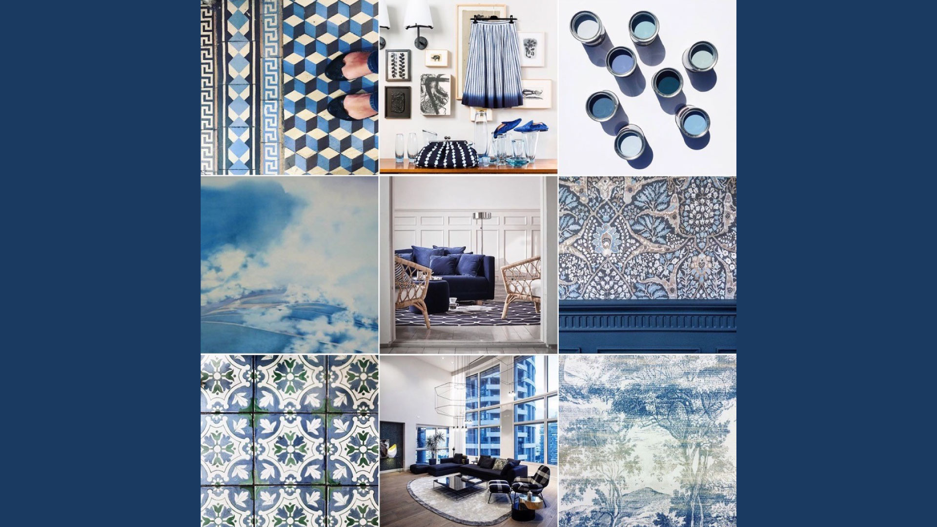 Blue mood board inspiration – the colour of water and sky, heaven and authority | A short history of Blue by Michelle Ogundehin | STIRworld