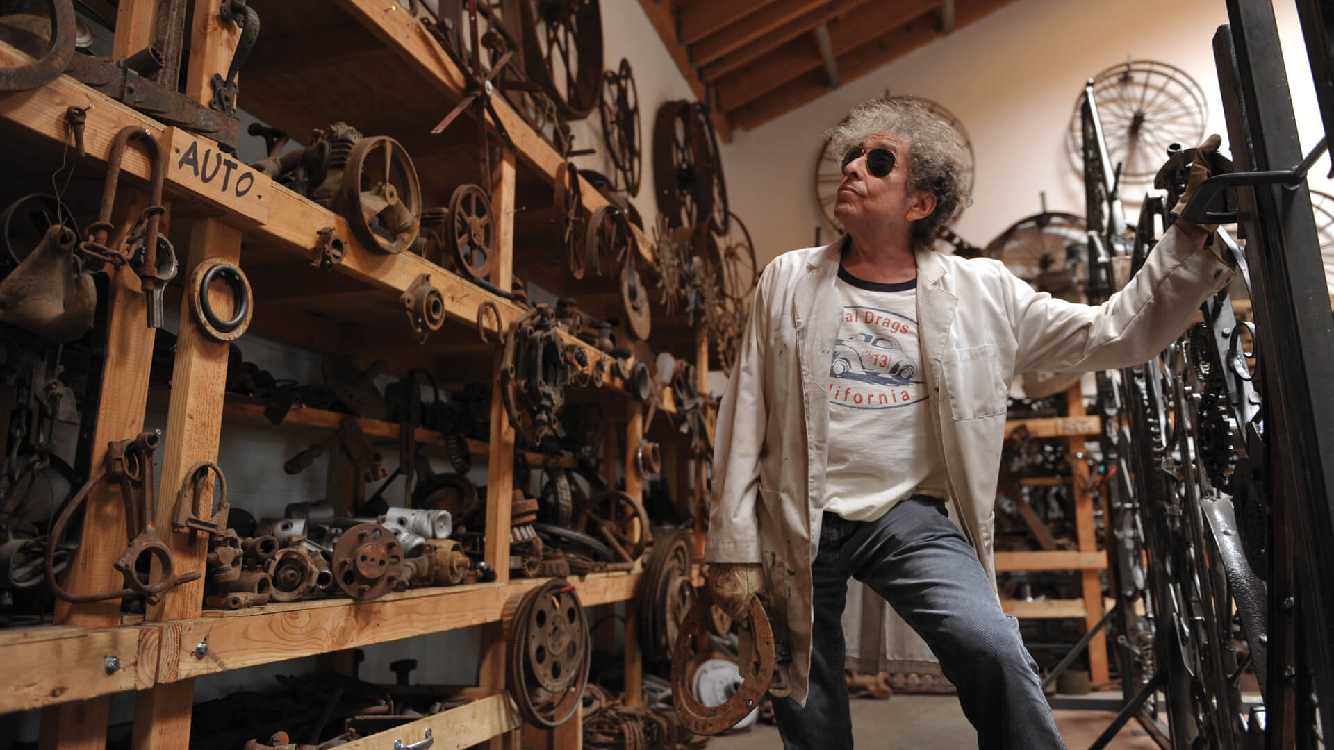 Bob Dylan in his iron-works studio | Editions at London's Halcyon Gallery | STIRworld