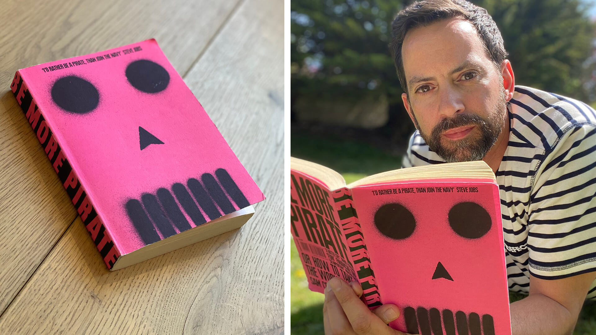 British architectural lighting designer Paul Nulty reading Be More Pirate by Sam Conniff Allende | What Am I Reading: Paul Nulty | STIRworld