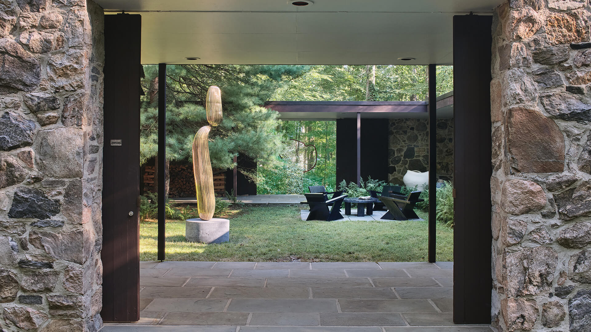 Collaborative art and design exhibition at the Noyes House uses the iconic house as a contemporary display setting | At The Noyes House | Object & Thing, Blum & Poe, Mendes Wood DM | STIRworld
