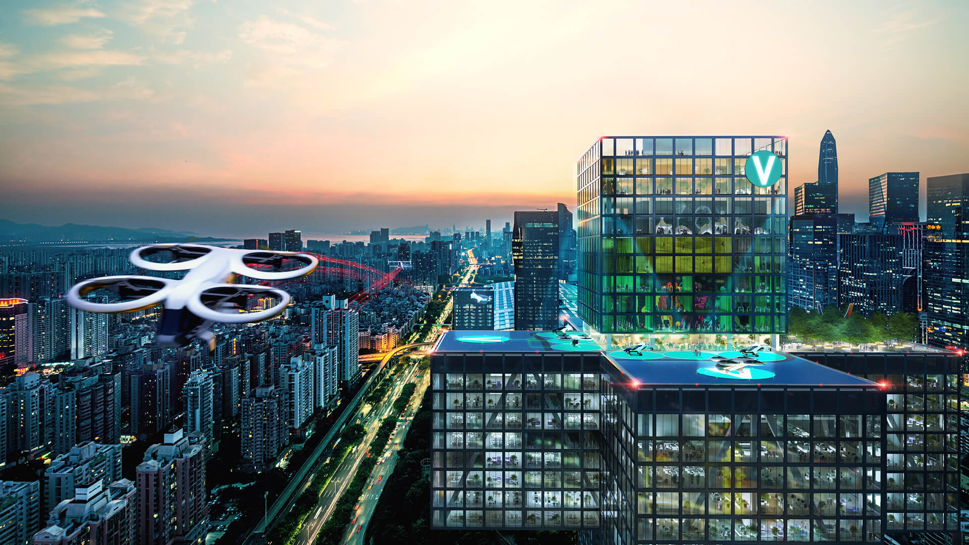 Connecting CBDs and optimising business mobility, Shenzhen | Airbus | MVRDV | STIRworld
