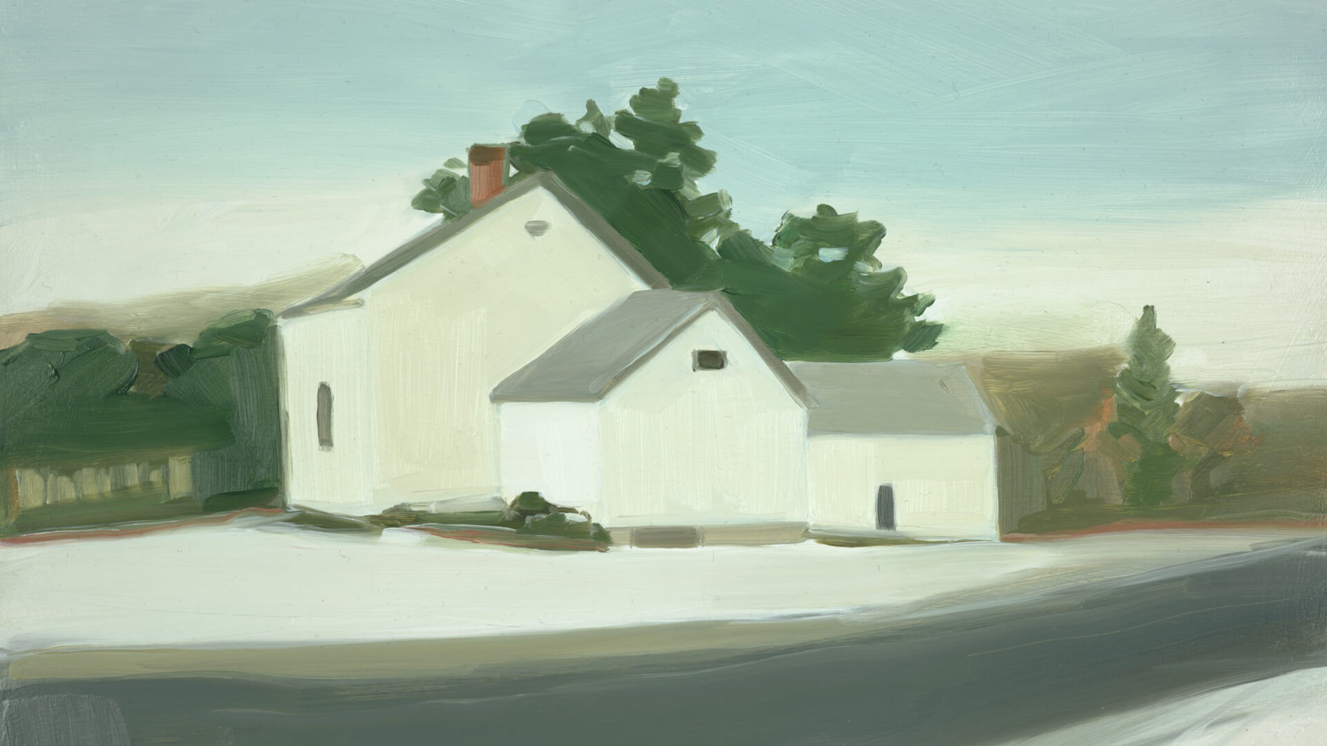 Cross Hill Road, Winter, 2002 by Maureen Gallace | For A Dreamer of Houses| Maureen Gallace | STIRworld