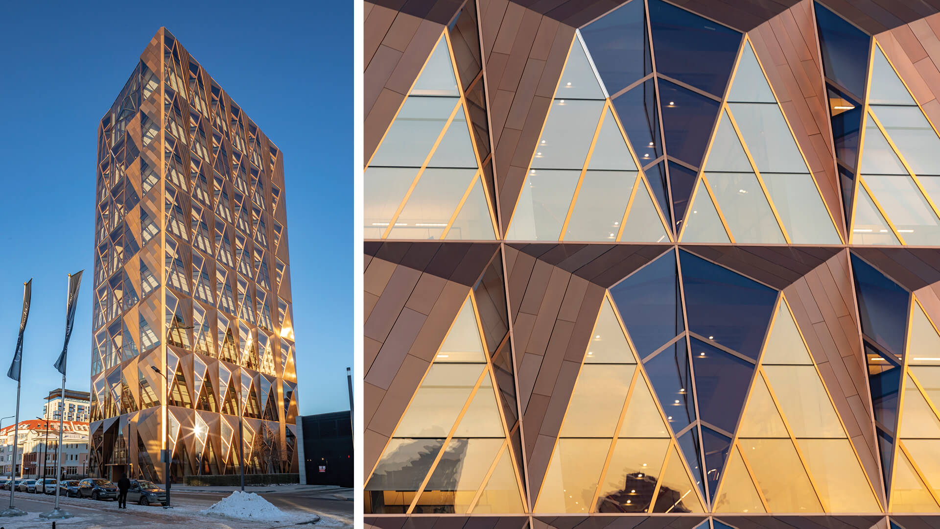 Foster + Partners' RCC Headquarters in Ekaterinburg, Russia, has a crystalline copper lattice inspired skin | RCC Headquarters by Foster + Partners | STIRworld