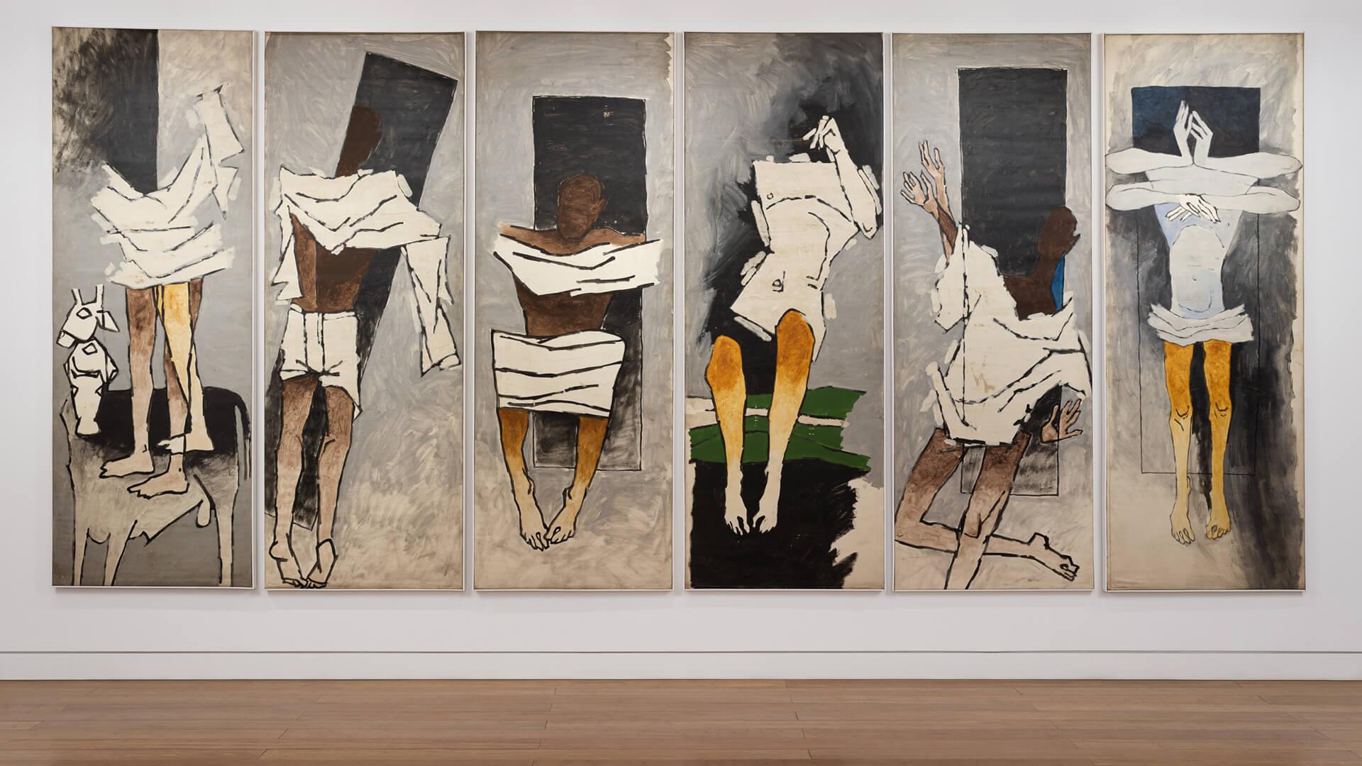Gallery view of The Attenborough Panels | Maqbool Fida Husain | The Attenborough Panels | MF Husain's death anniversary | Aicon Contemporary | STIRworld