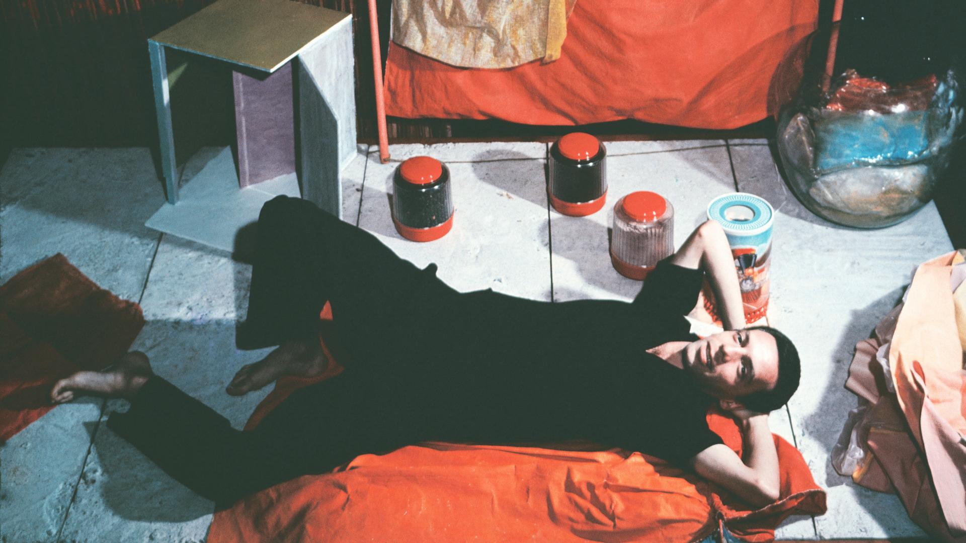 Hélio Oiticica with Bolides and Paragolés in his studio at Engenheiro Alfredo Duarte Street, Rio de Janeiro, 1965 | Lisson Gallery | Hélio Oiticica | STIRworld