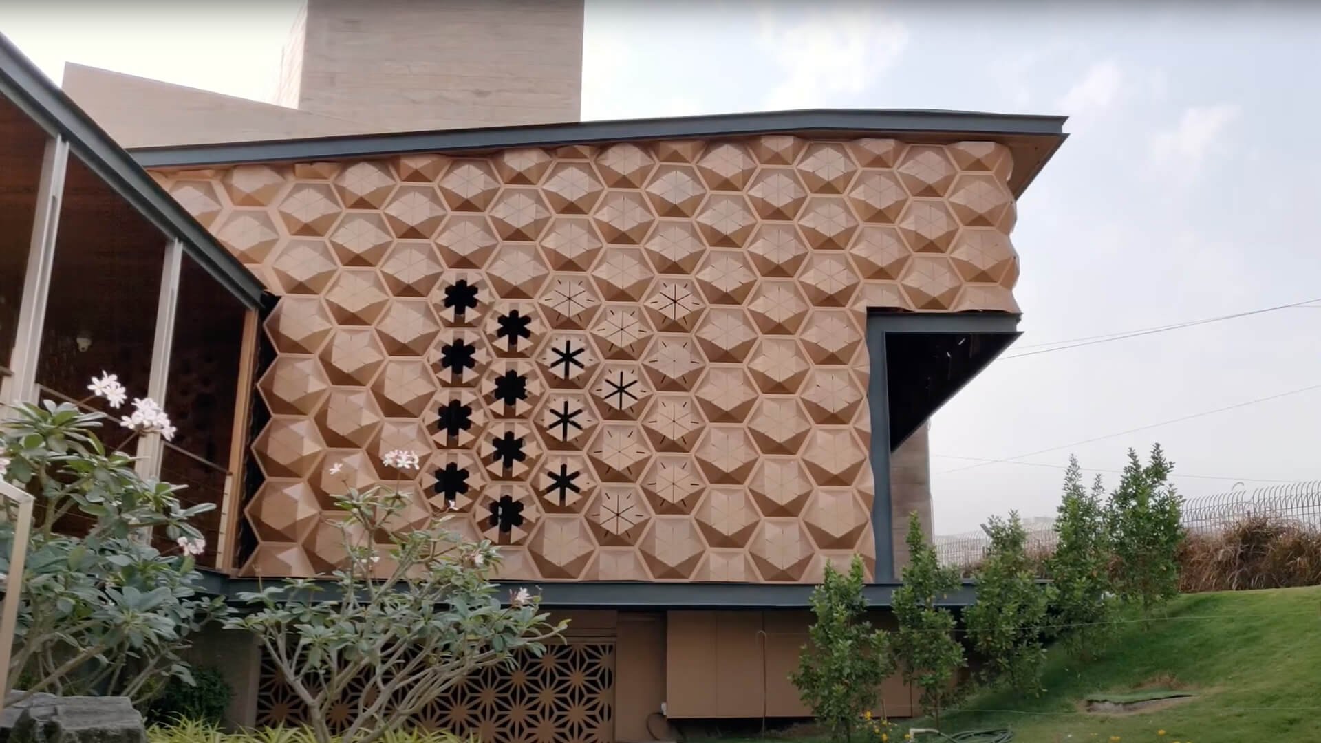 Biomimicry marries art and engineering in Hive by Openideas Architects in India