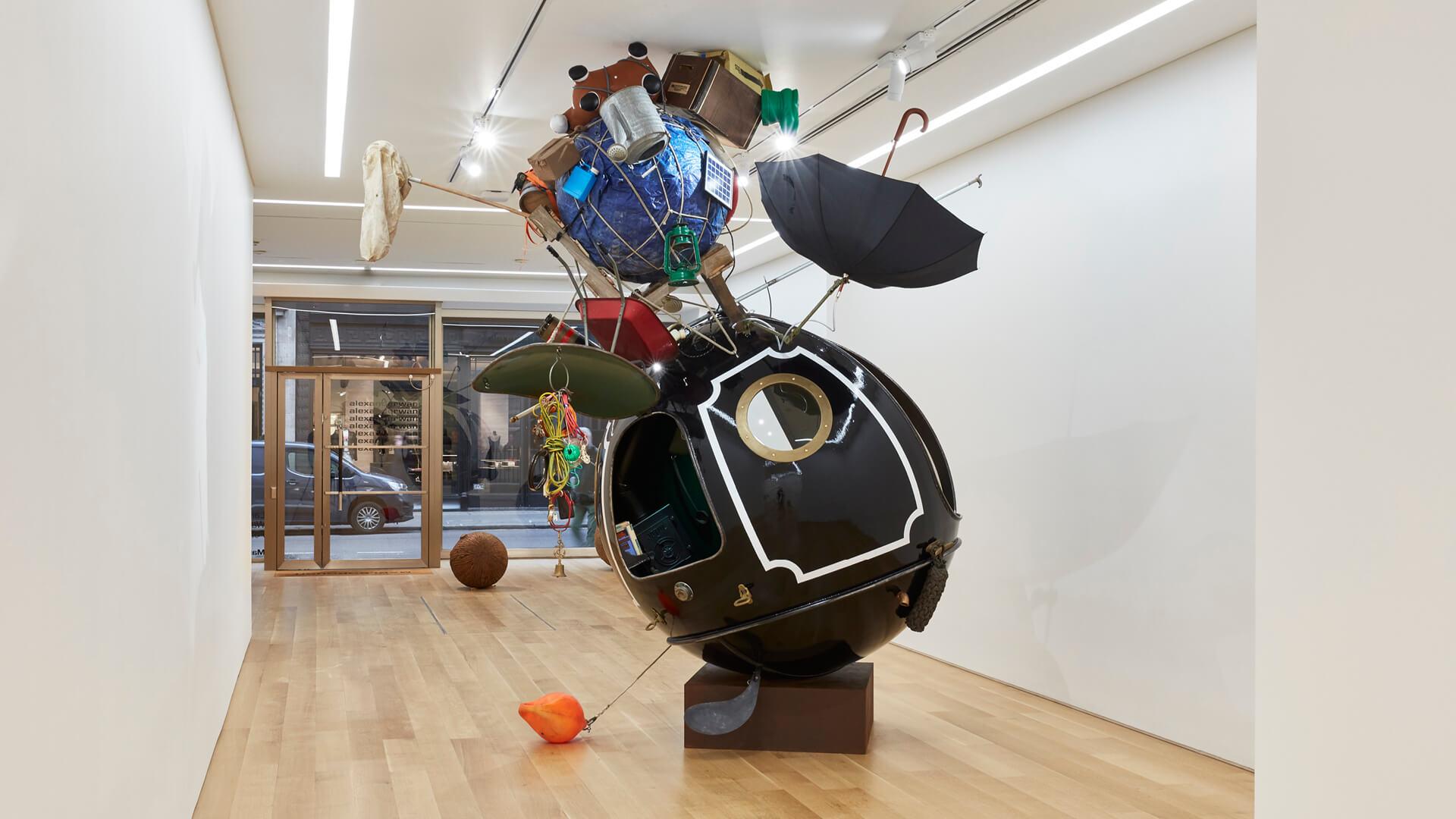 Houseboatball, 2020. Installation View, Lars Fisk: Wattle & Daub, Marlborough, London | Wattle & Daub | Lars Fisk | STIRworld