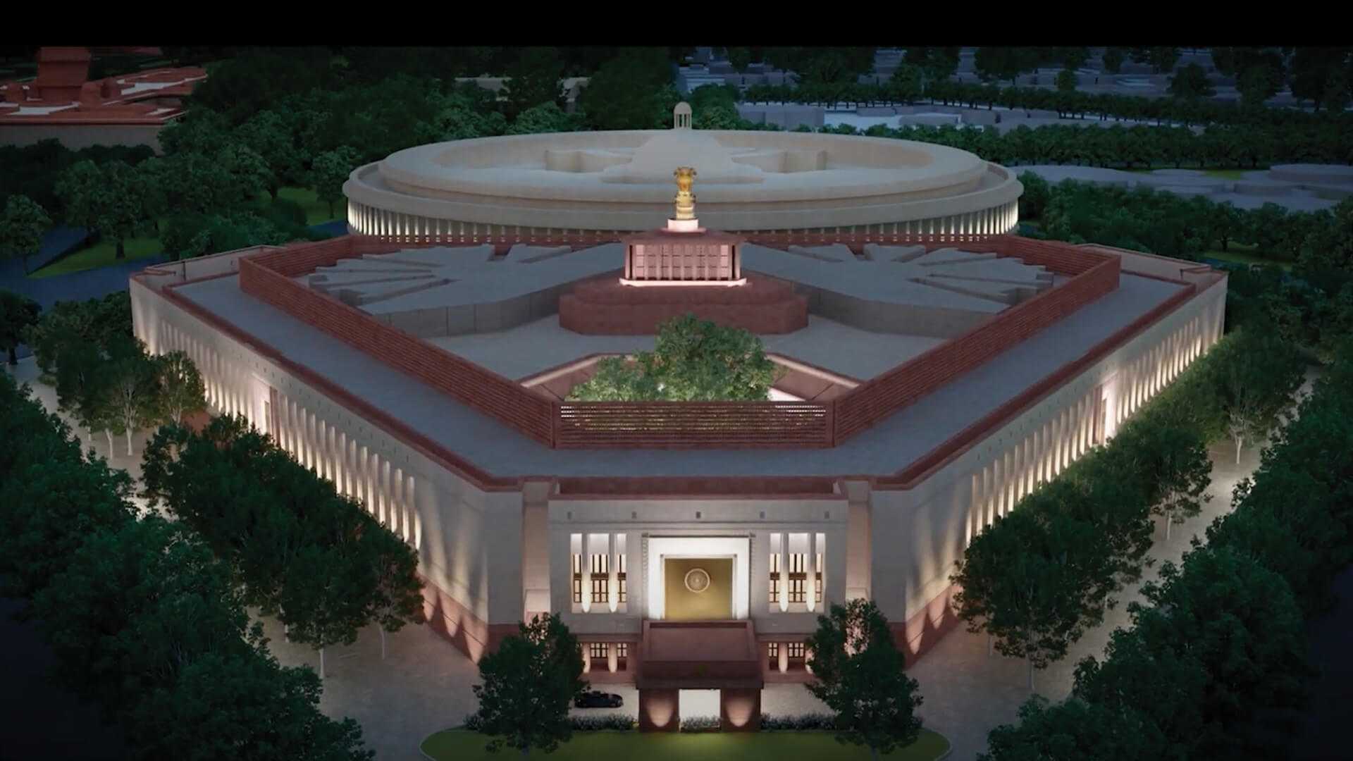 India's new Parliament building as part of the Central Vista redevelopment plan as presented during the ground breaking ceremony in New Delhi | STIRworld