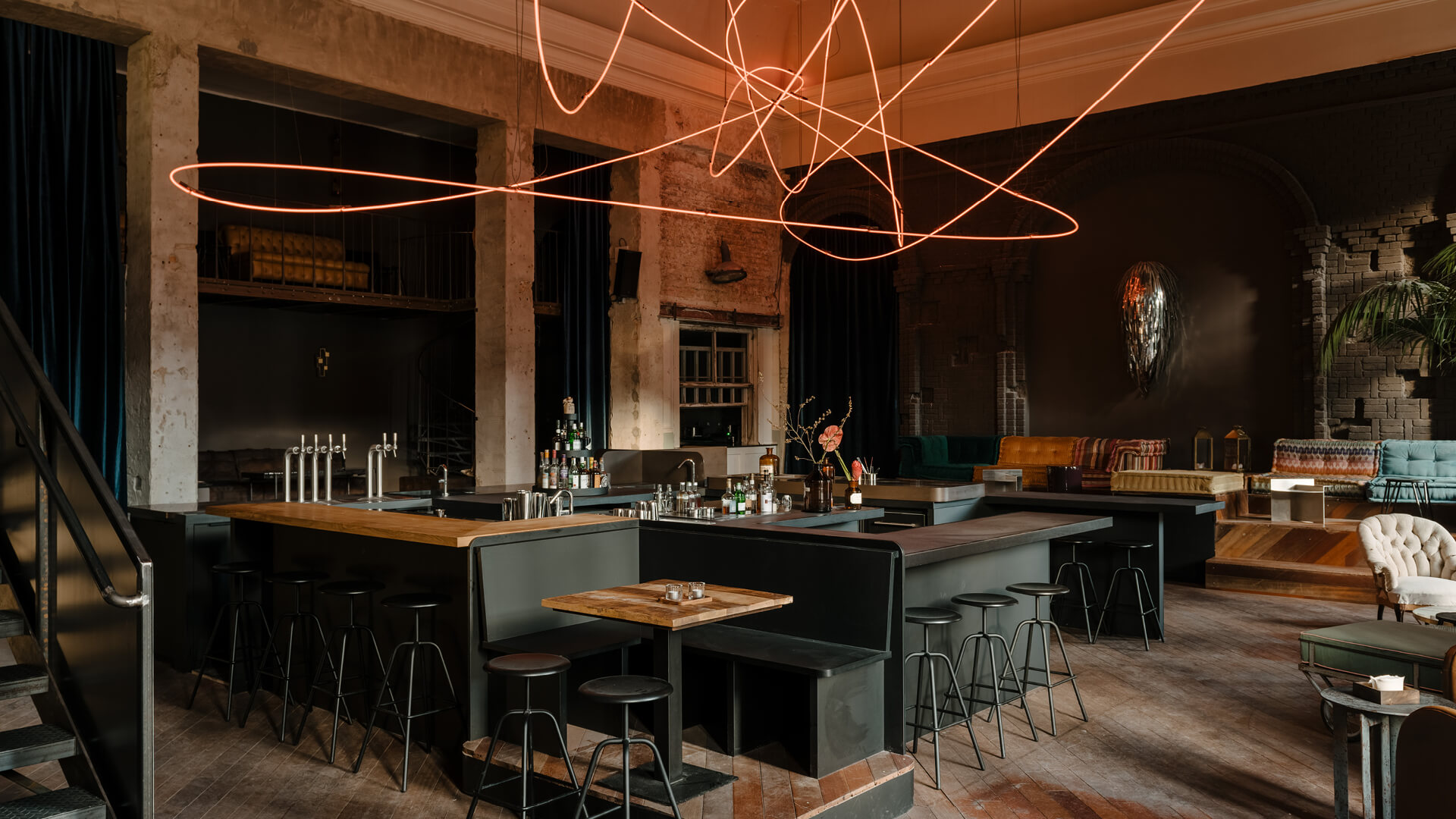 Inside KINK Bar and Restaurant in Berlin, Germany | KINK Bar and Restaurant by Oliver Mansaray and Daniel Scheppan | STIRworld