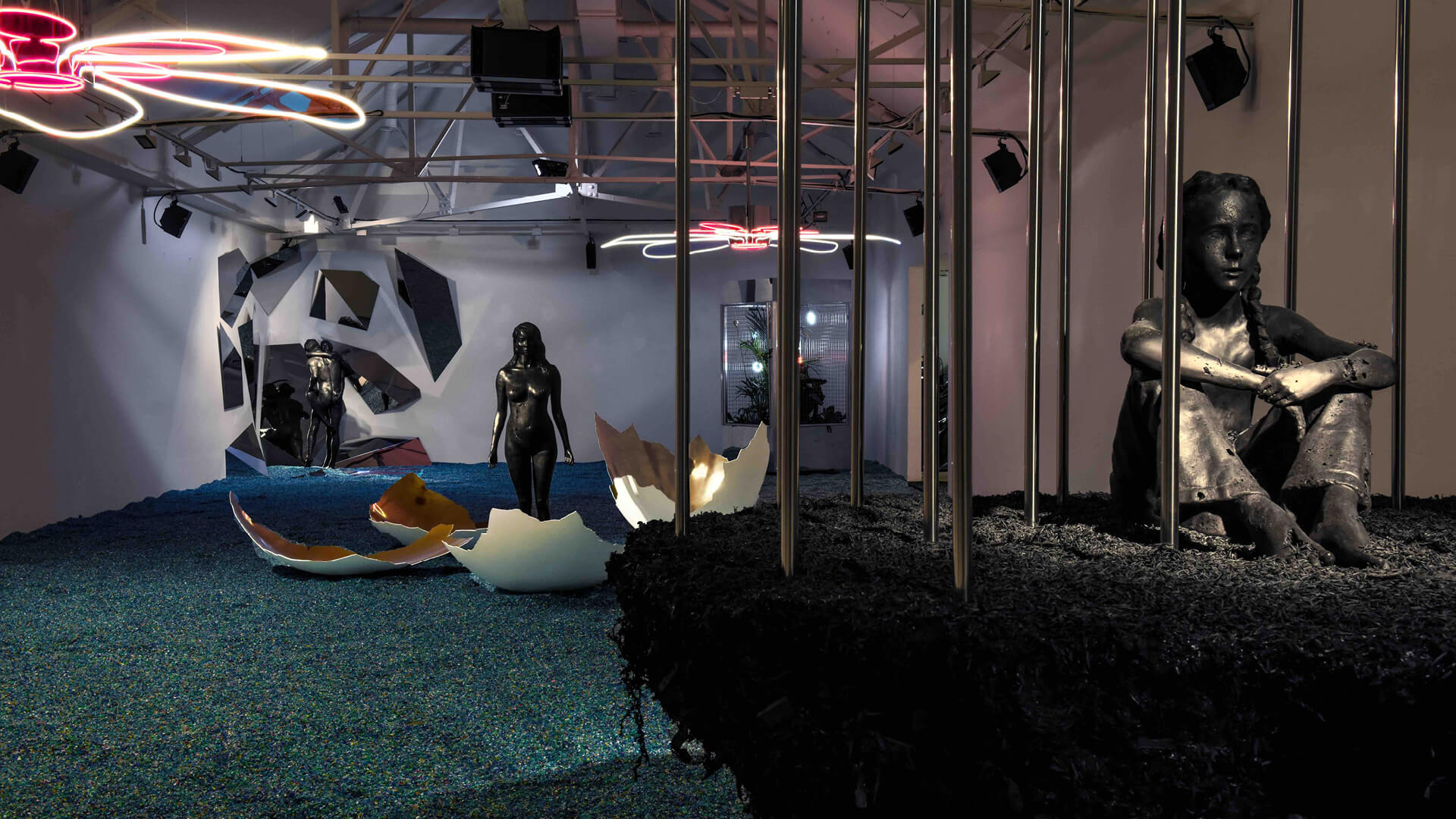 Installation view of Artificialis at Saatchi Gallery | Artificialis | Cyril de Commarque | STIRworld