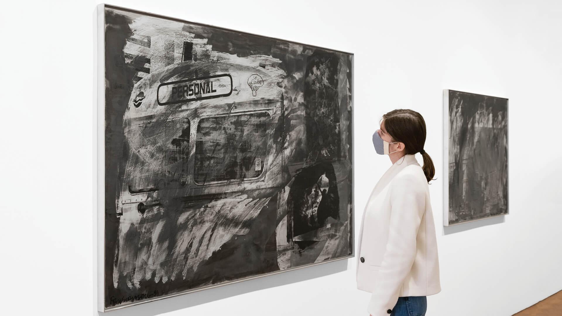 Installation view, Robert Rauschenberg, Night Shades and Phantoms, Thaddaeus Ropac London, 2021 | London Gallery Weekend 2021 | STIRworld