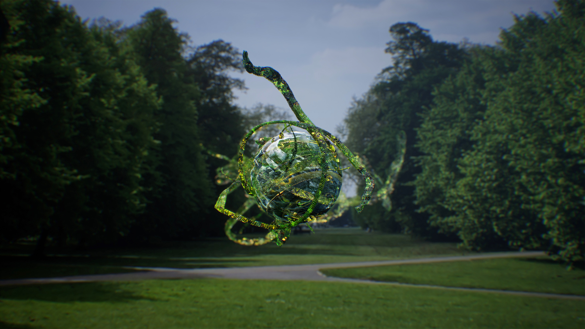 Jakob Kudsk Steensen, The Deep Listener, 2019. AR Visualisation 1. Serpentine Augmented Architecture in collaboration with Google Arts & Culture and Sir David Adjaye OBE | STIRworld