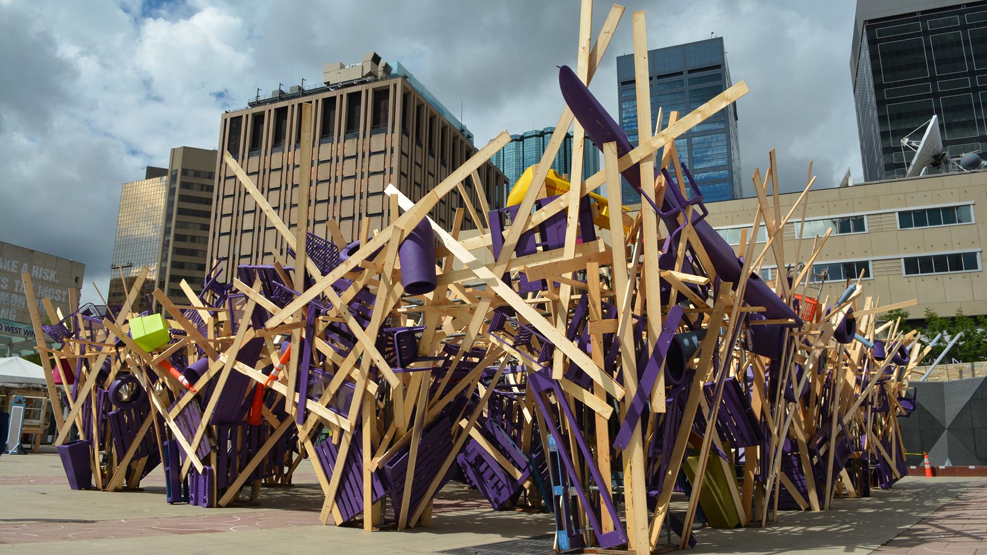 José Luis Torres, Canopy, The Works Art & Design Festival, Sir Winston Churchill Square, Edmonton, Alberta (Canada) 2016| José Luis Torres| STIR