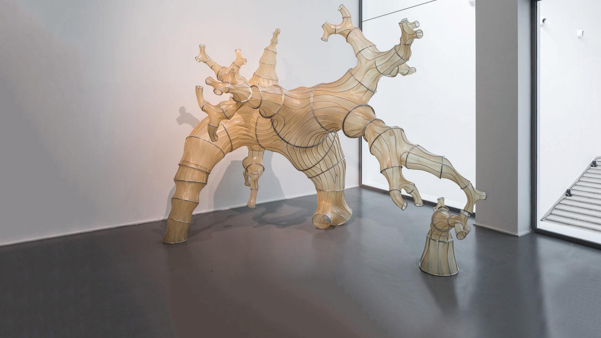 Julia Lohmann's sculpture is made of Naga Kombu, a type of Japanese seaweed | Broken Nature | MoMA | STIRworld