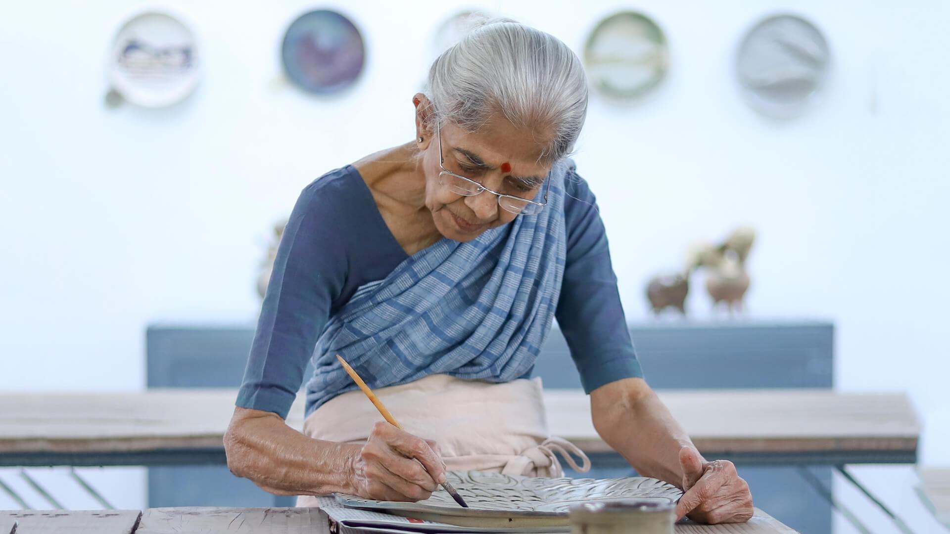 Jyotsna Bhatt working in her studio | STIRworld