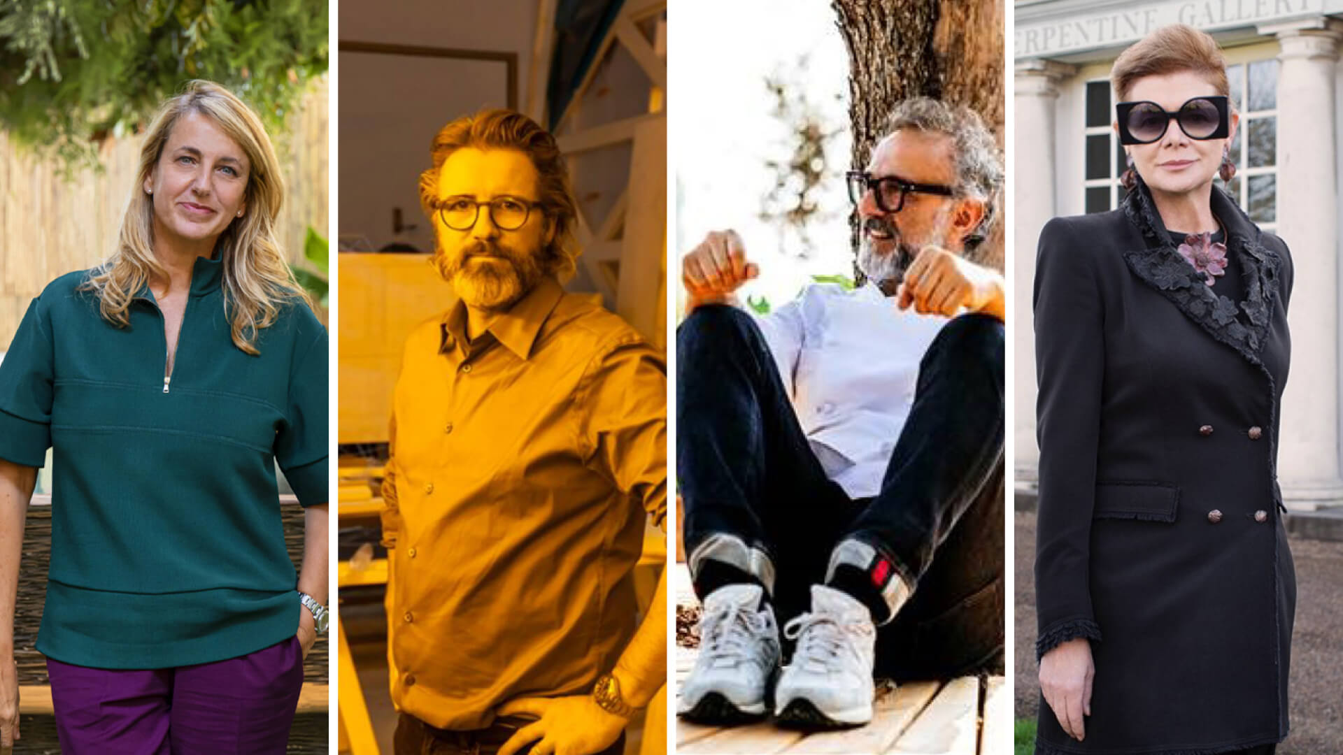L to R: Patricia Urquiola, Olafur Eliasson, Massimo Bottura and Elena Foster | Cassina Out of the Box with Patricia Urquiola | STIRworld