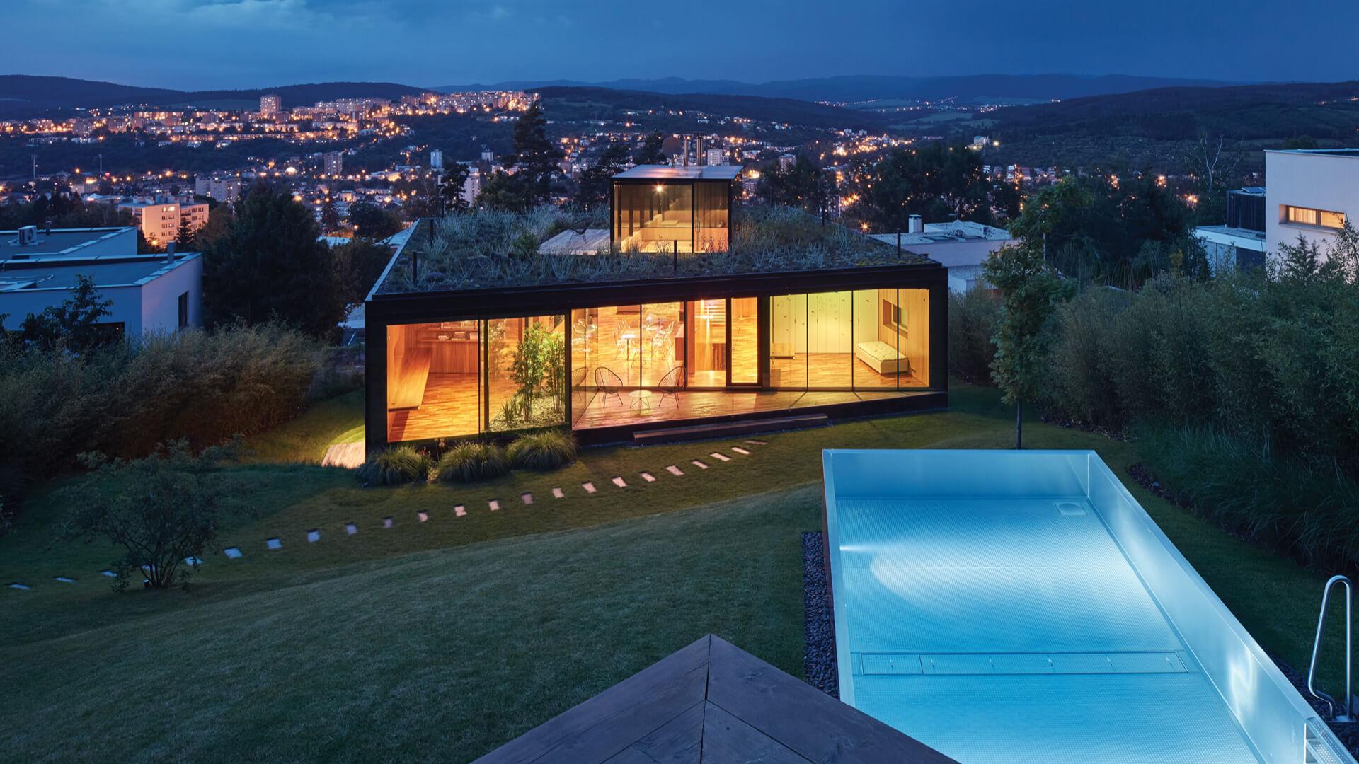 Lazy House by petrjanda/brainwork tie in a home, a garden, and the Czech city of Zlín