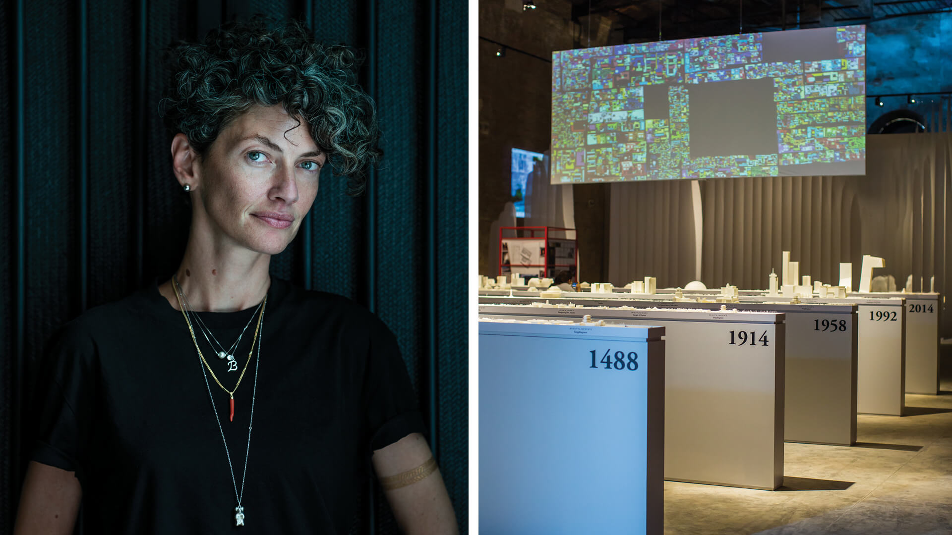 Left: Beatrice Leanza, Right: Across Chinese Cities exhibition in 2014|Beatrice Leanza |MAAT Lisbon | STIRworld