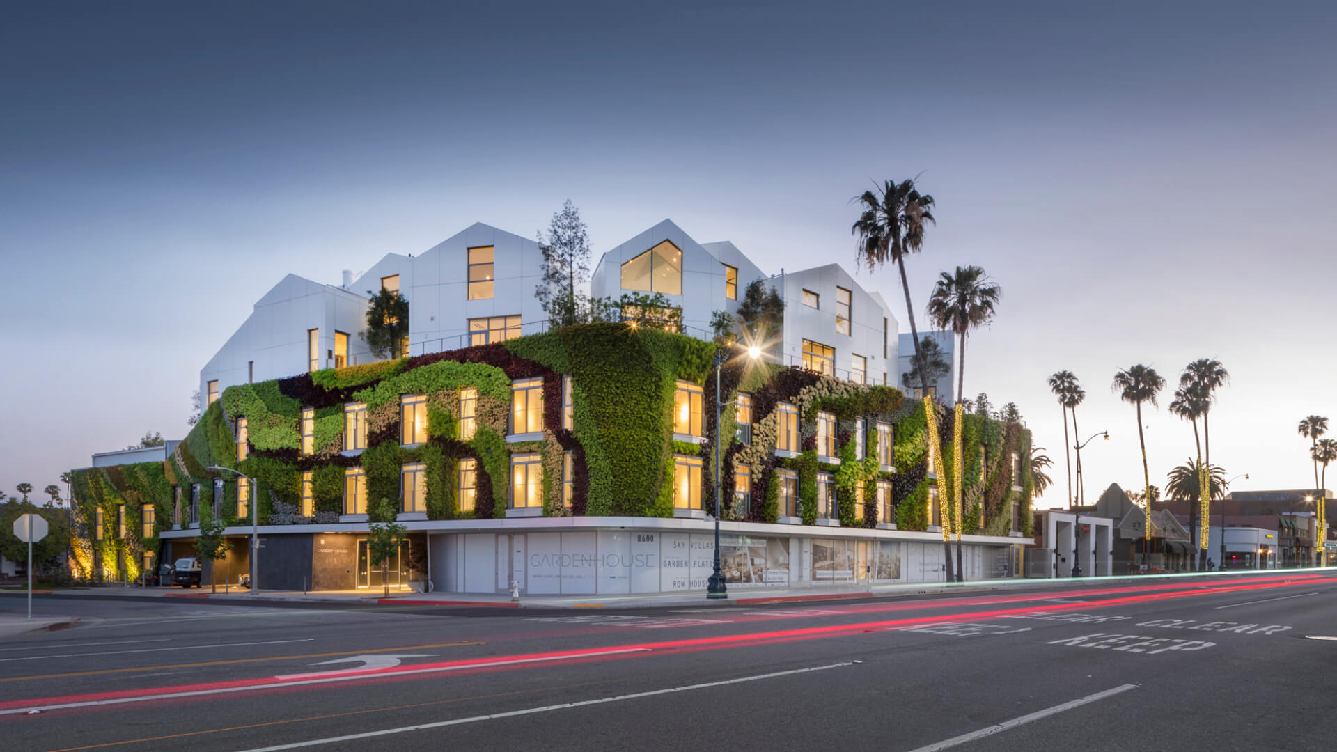 MAD Architects drape a green living wall around Gardenhouse in Beverly Hills