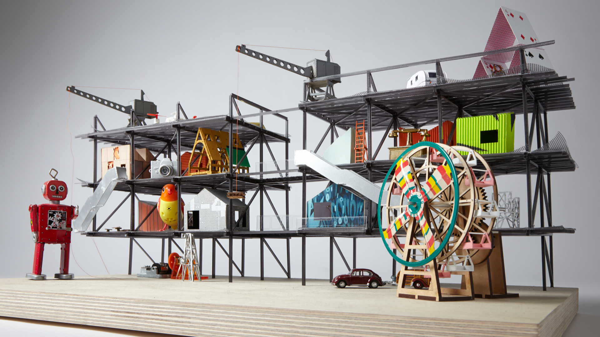 Model of the Gantry area for Here East project in London | Here East London | Hawkins\Brown | STIRworld