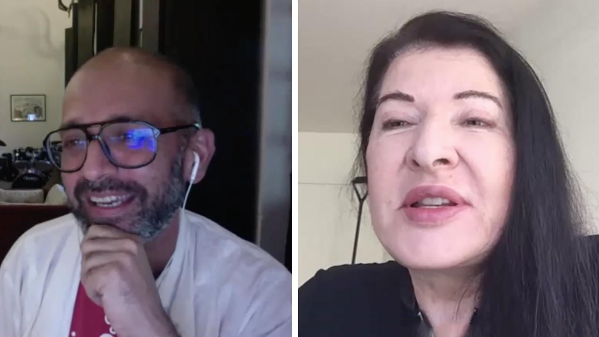 Performance artists Marina Abramović and Nikhil Chopra in a stimulating conversation
