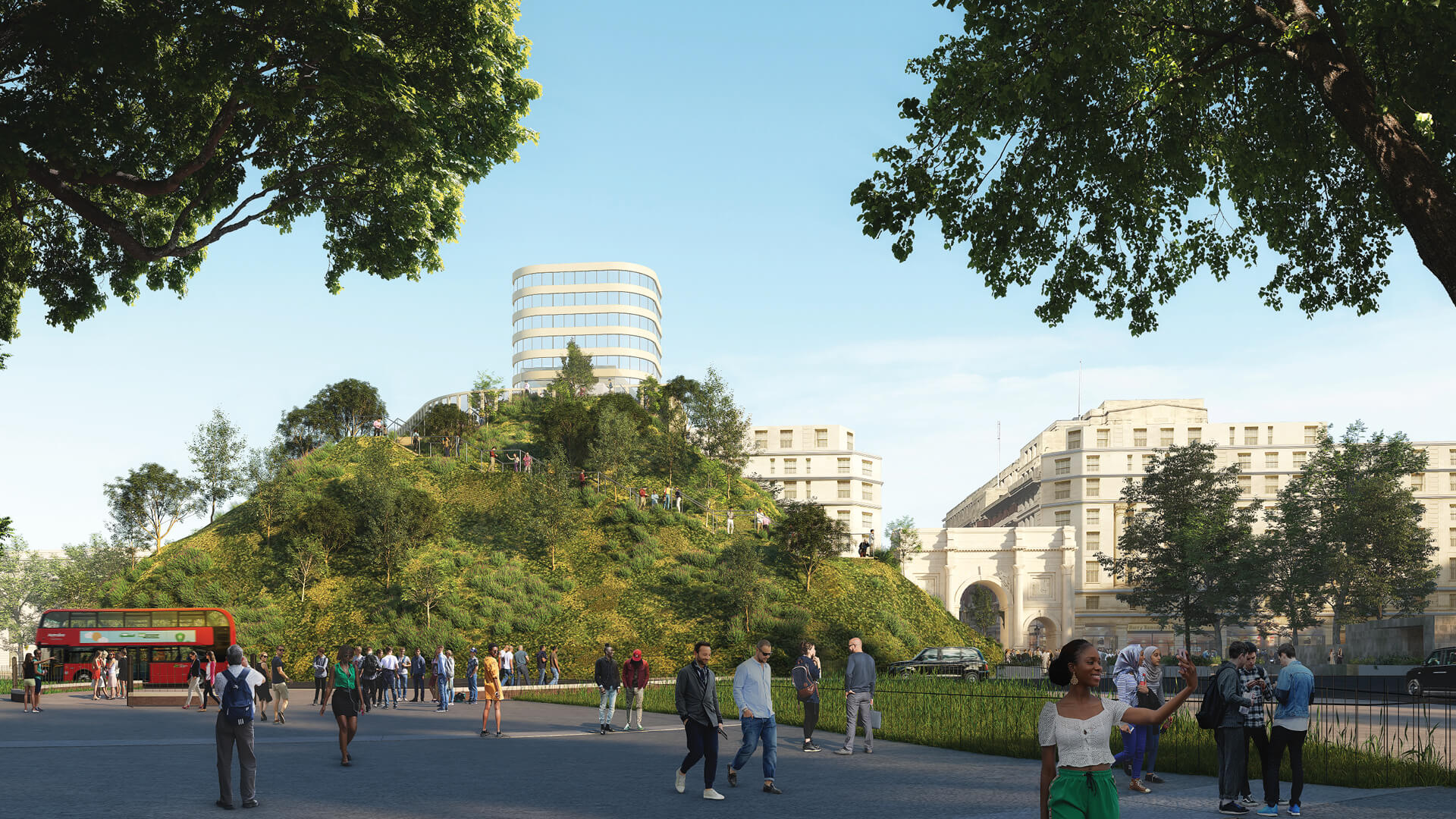 MVRDV designs Marble Arch Hill in London | Marble Arch Hill designed by MVRDV| STIRworld