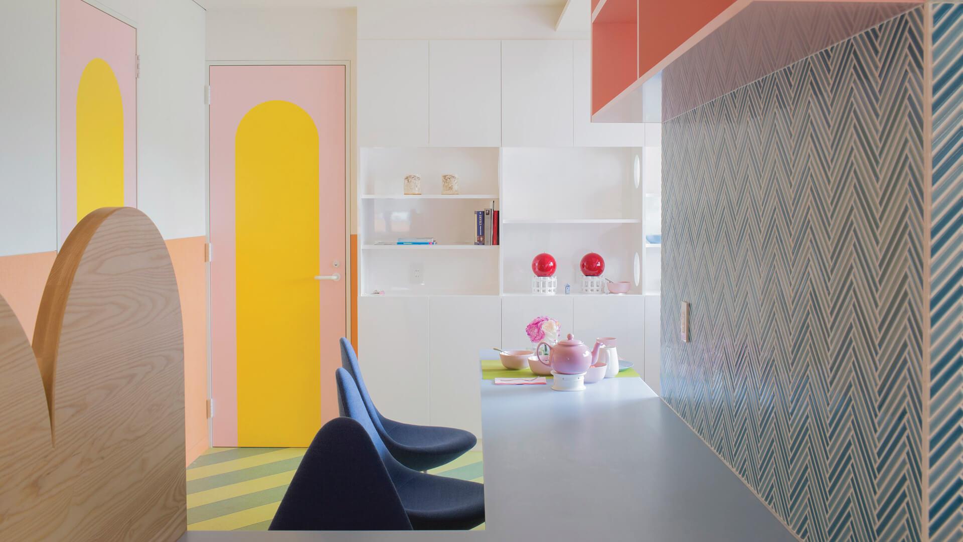 Adam Nathaniel Furman instills his pop colour aesthetic in Nagatachō Apartment