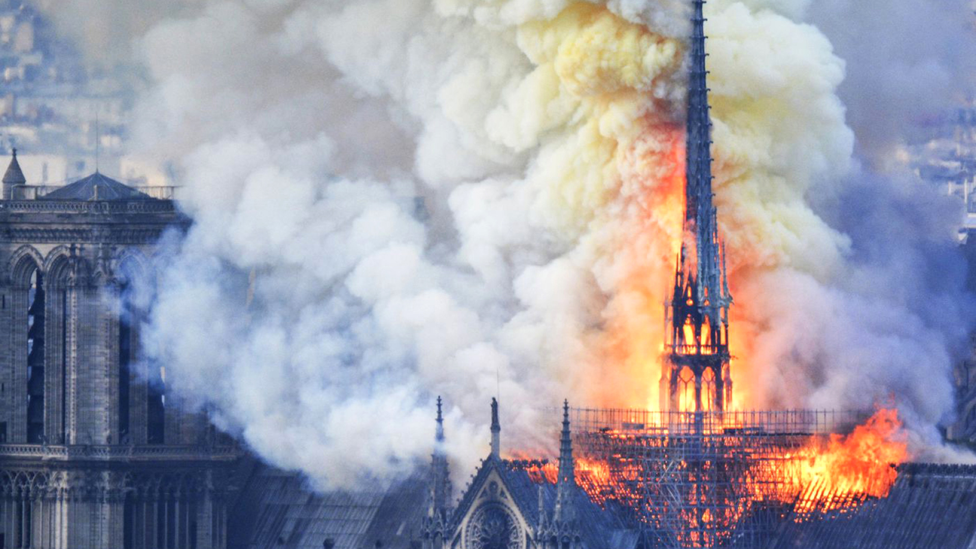 Notre-Dame Cathedral, Paris, engulfed in flames in April 2019| France | Paris | STIR